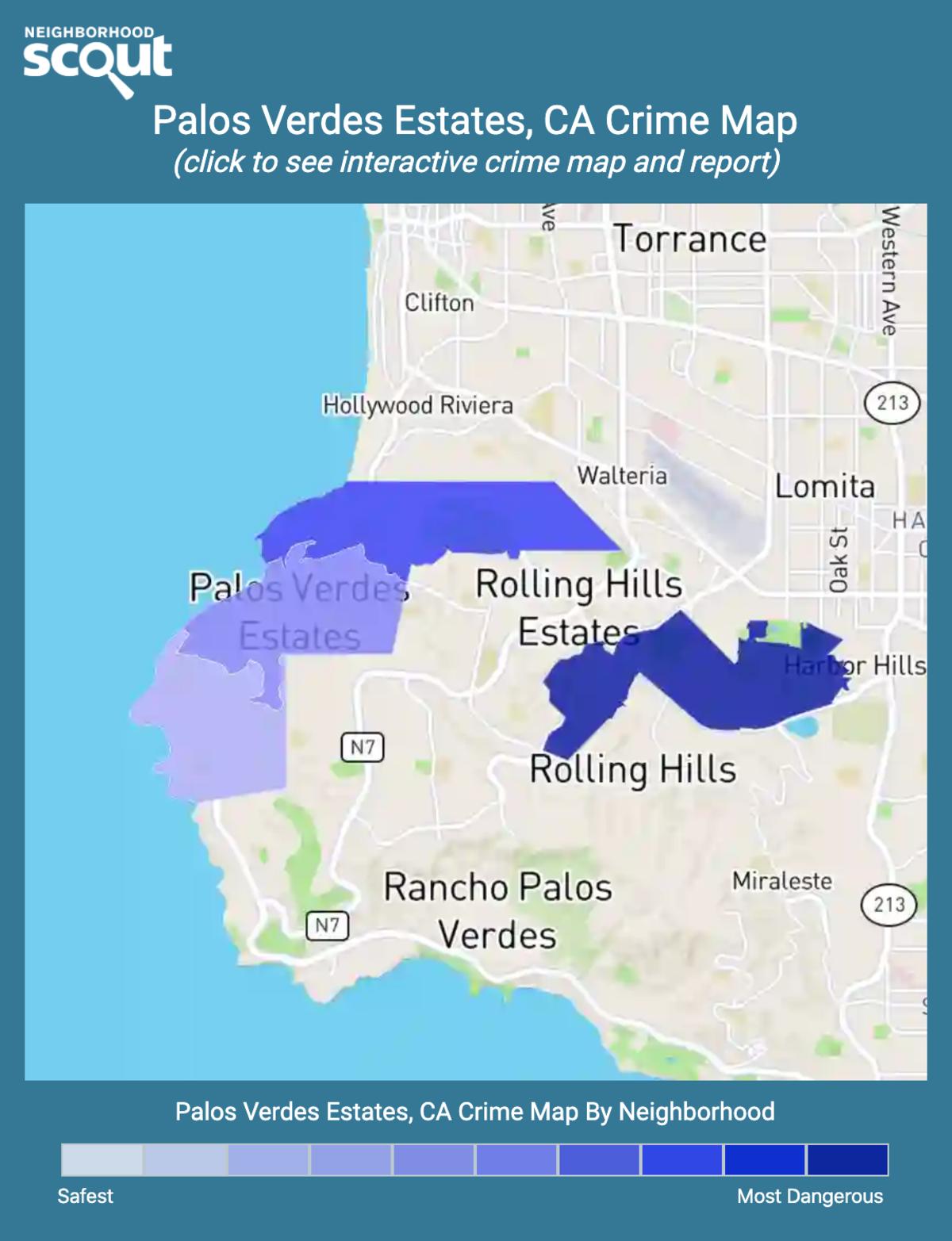 Palos Verdes Estates, California crime map