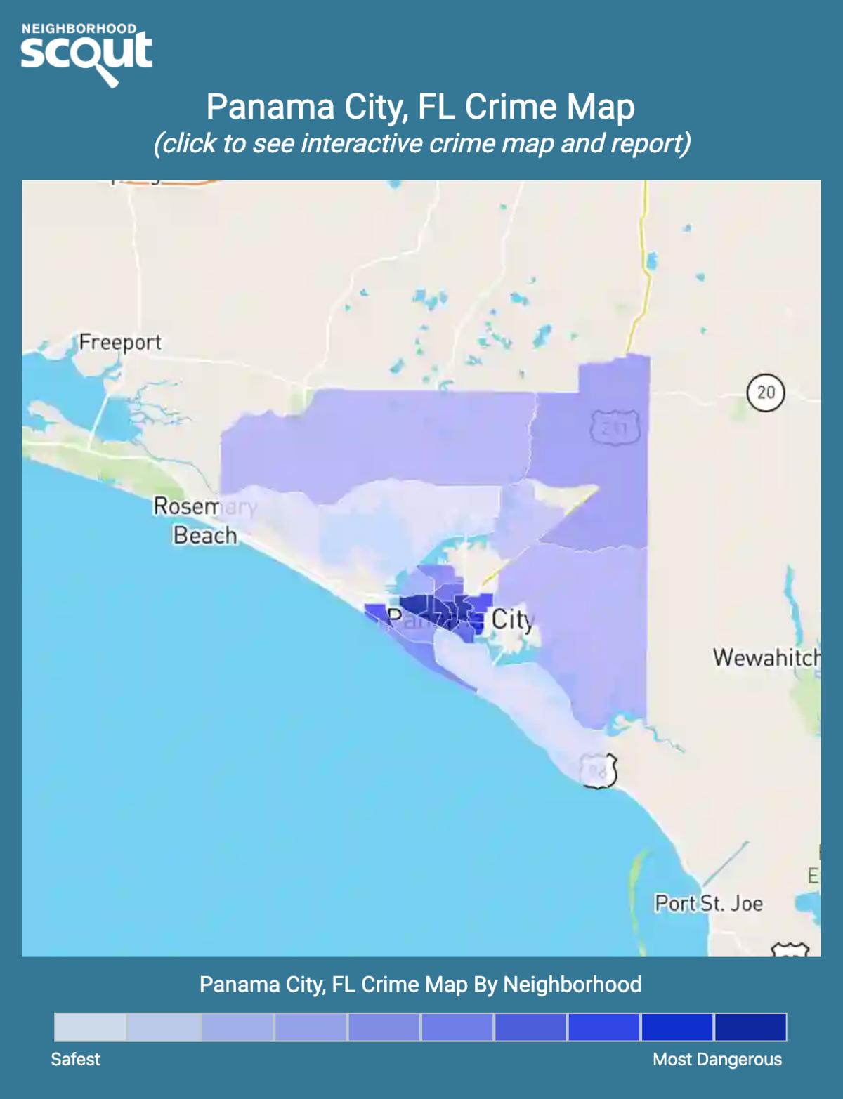 Panama City, Florida crime map