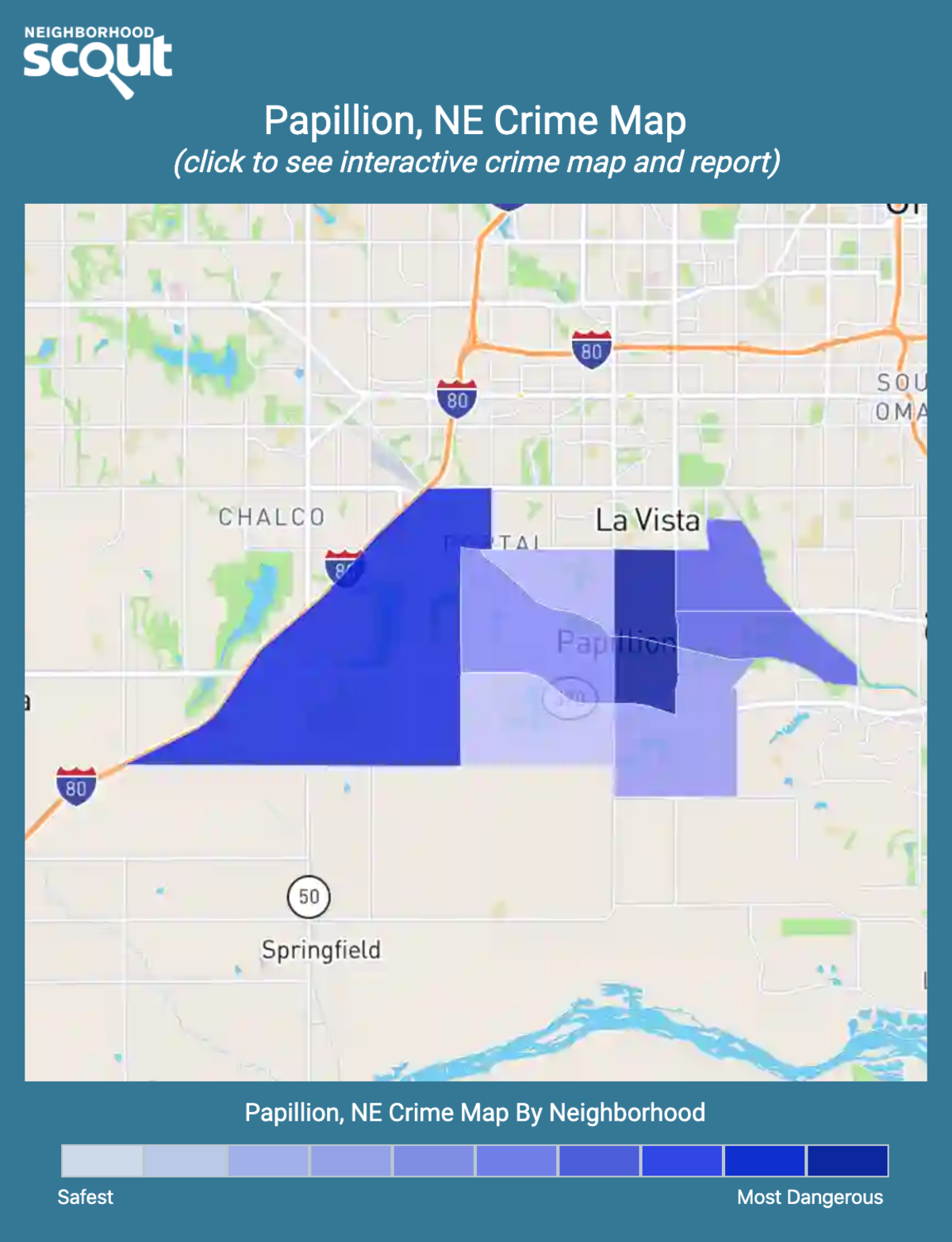 Papillion, Nebraska crime map