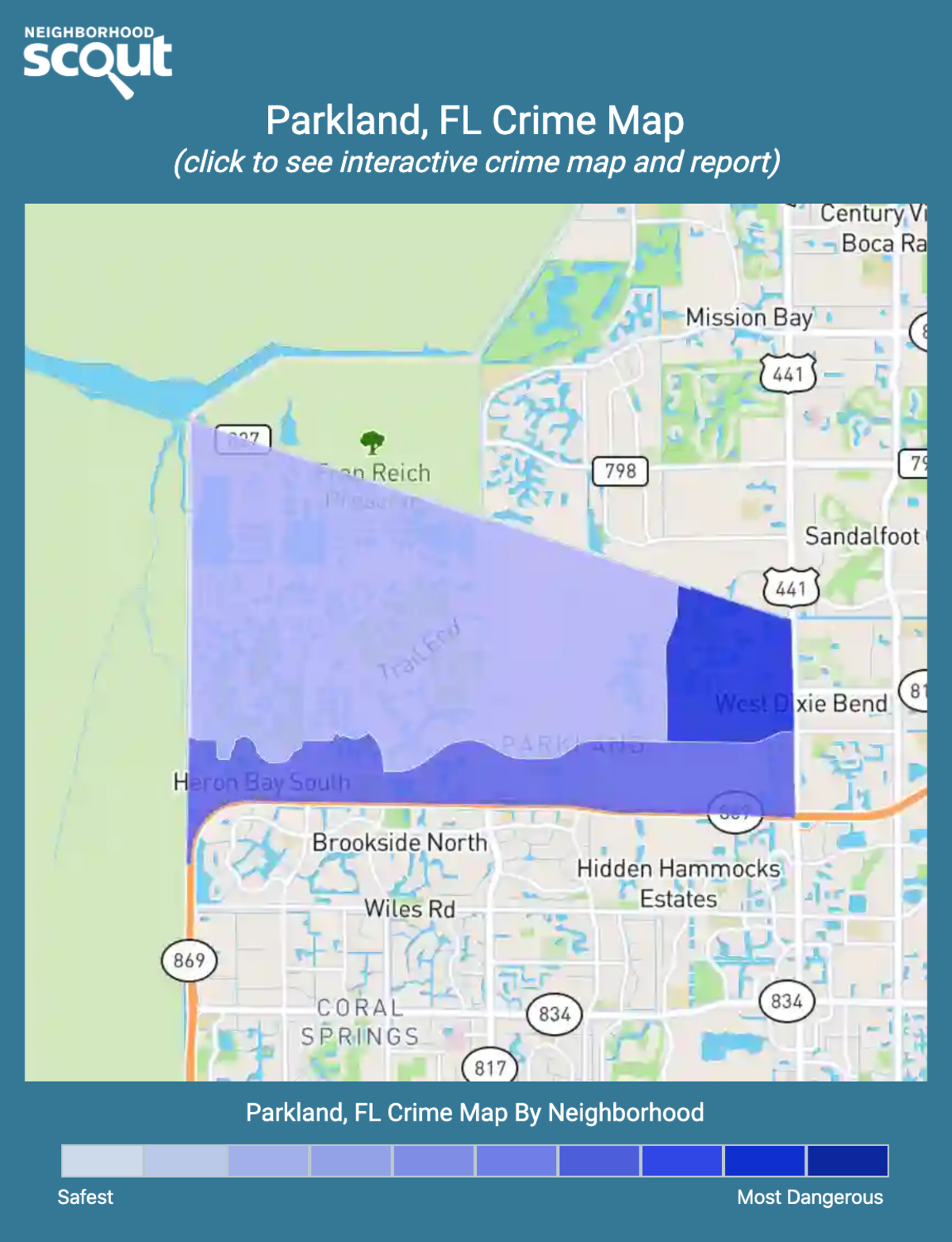 Parkland, Florida crime map