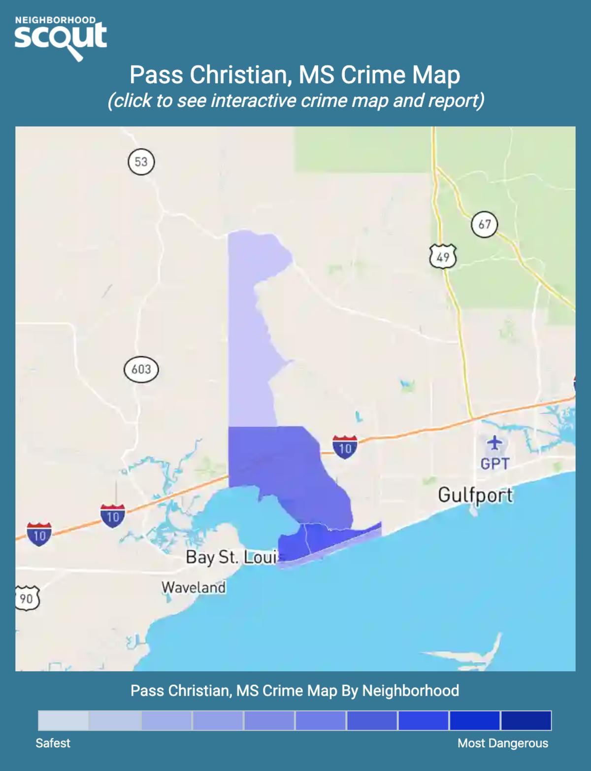 Pass Christian, Mississippi crime map