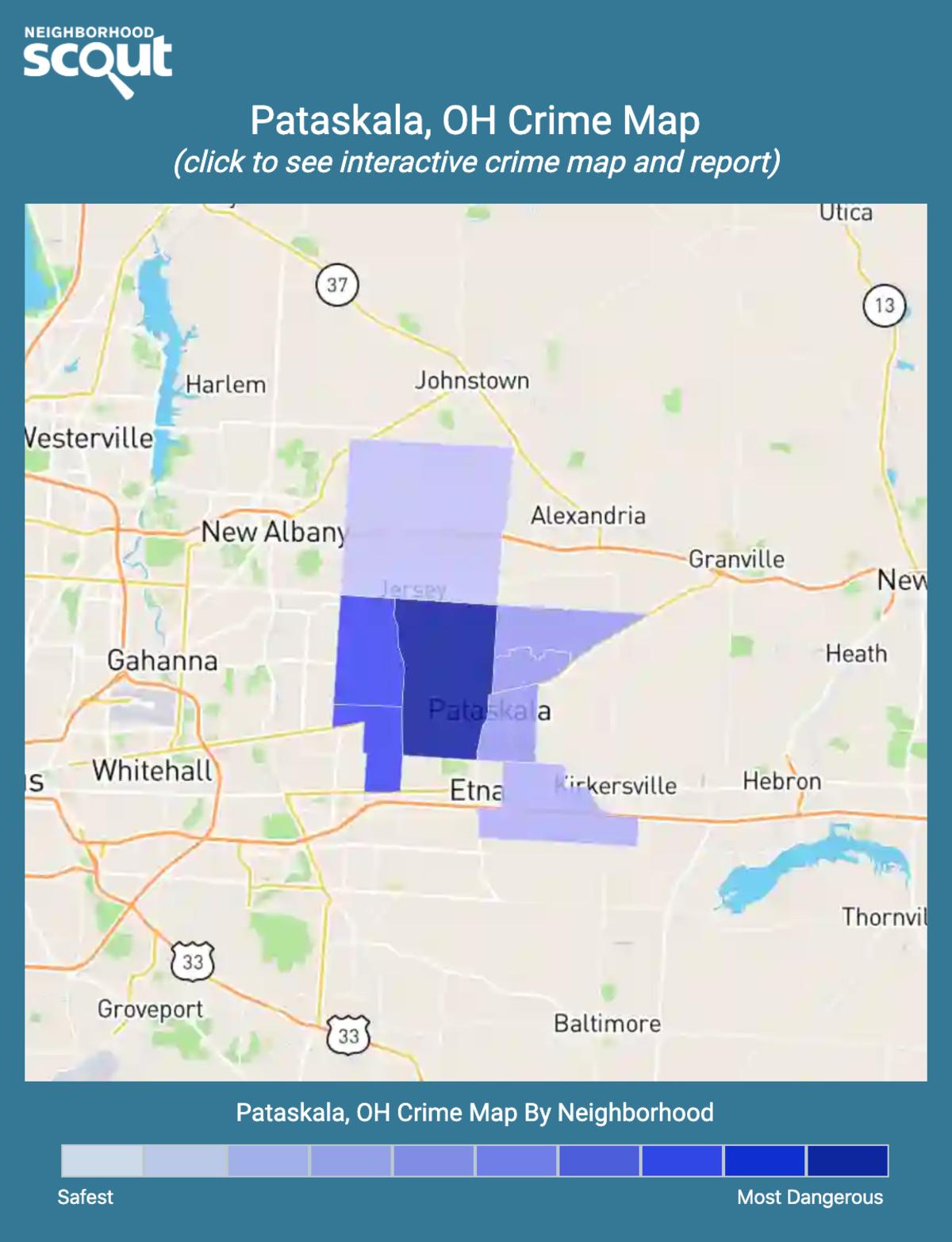 Pataskala, Ohio crime map