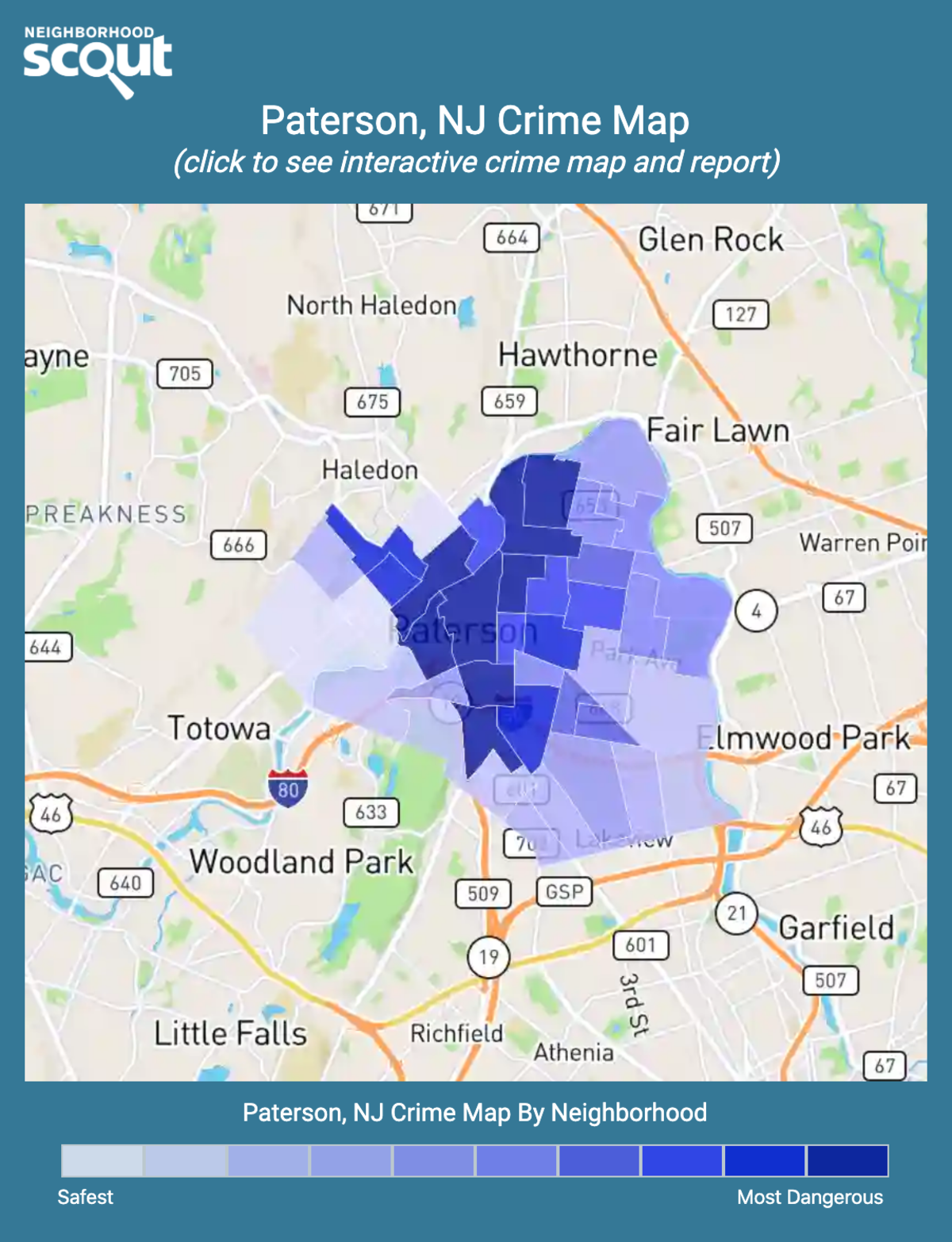 Paterson, New Jersey crime map