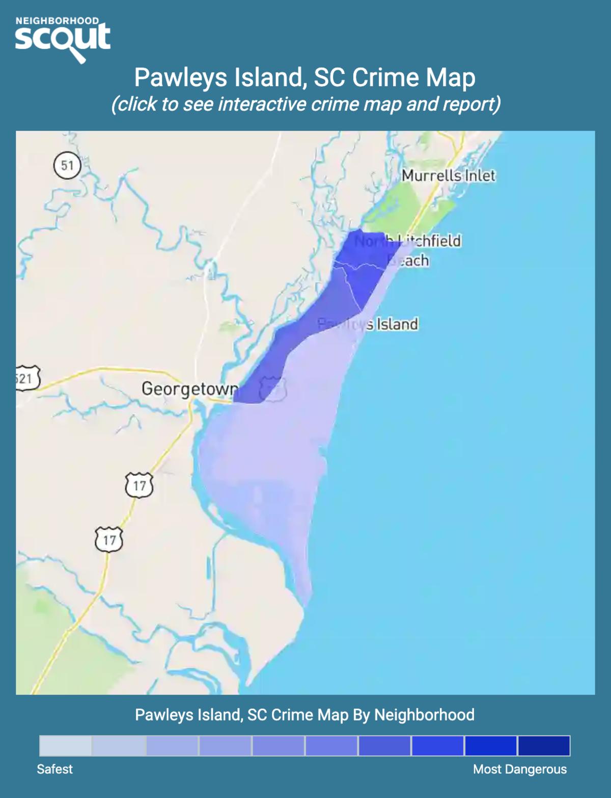 Pawleys Island, South Carolina crime map