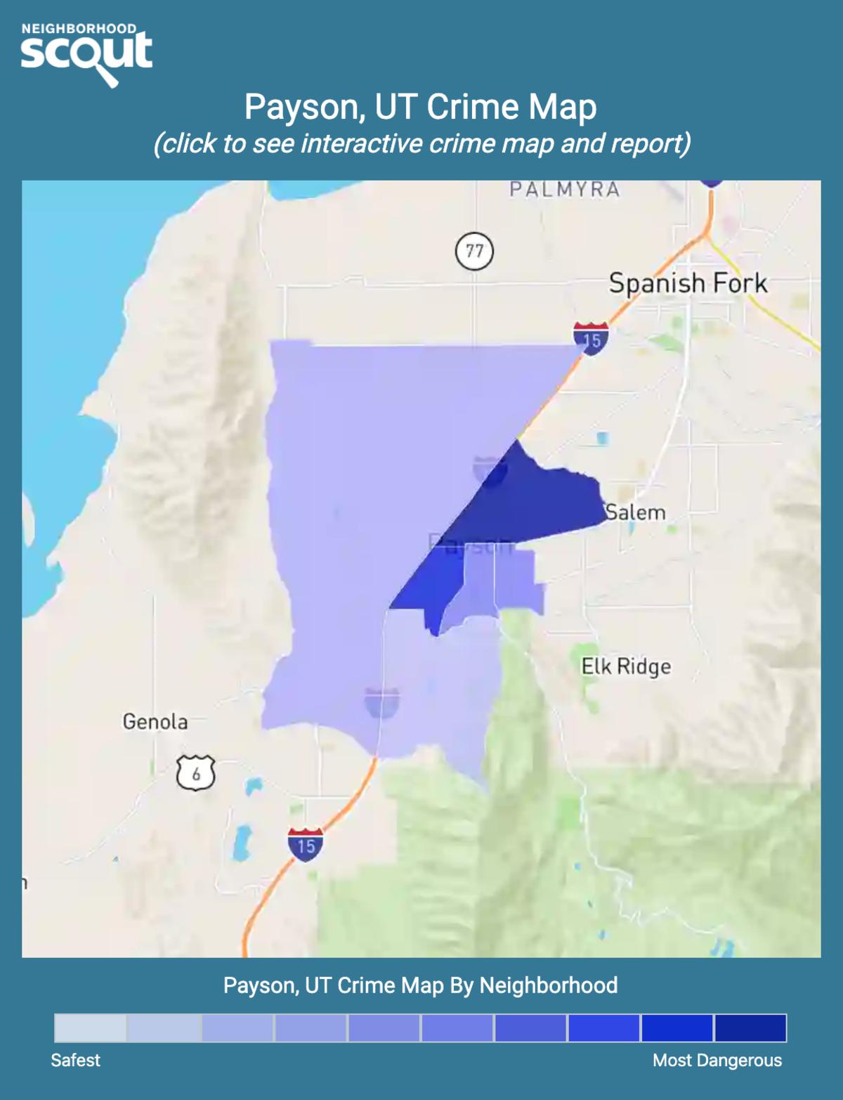 Payson, Utah crime map