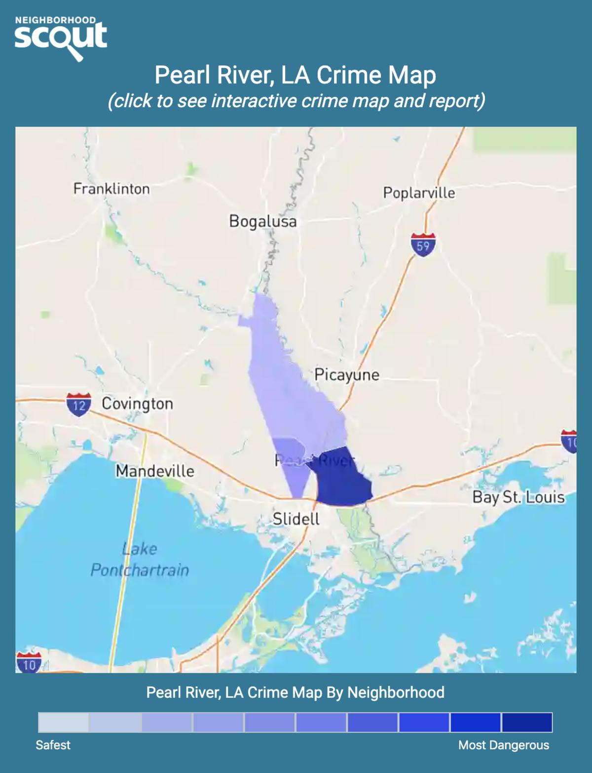 Pearl River, Louisiana crime map