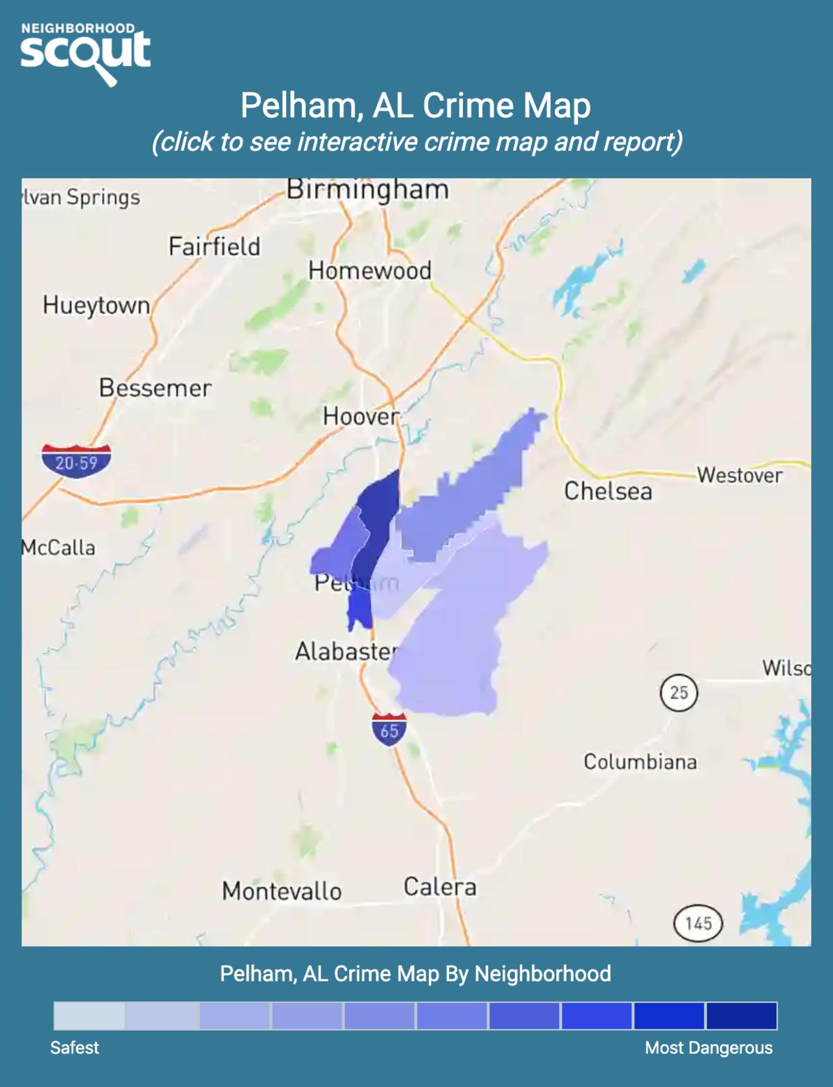 Pelham, Alabama crime map