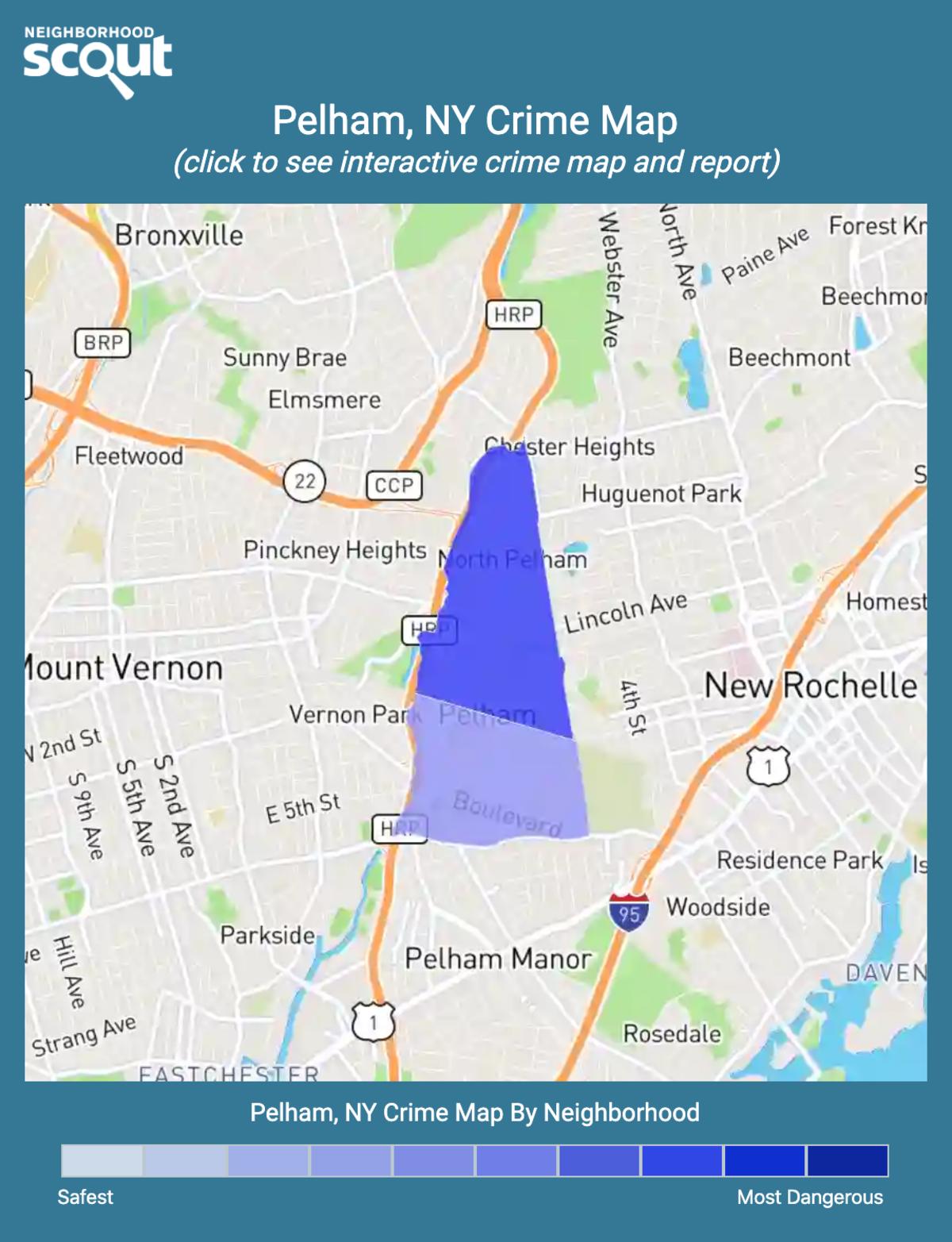 Pelham, New York crime map