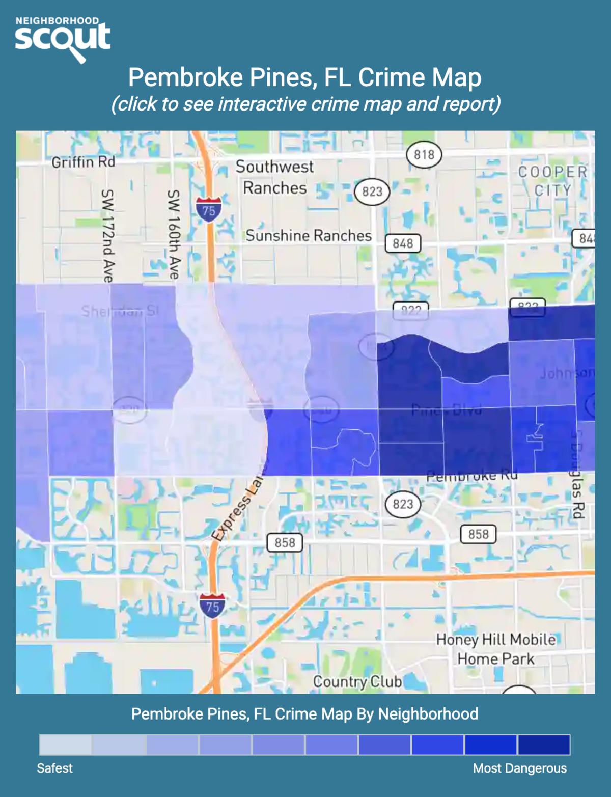 Pembroke Pines, Florida crime map