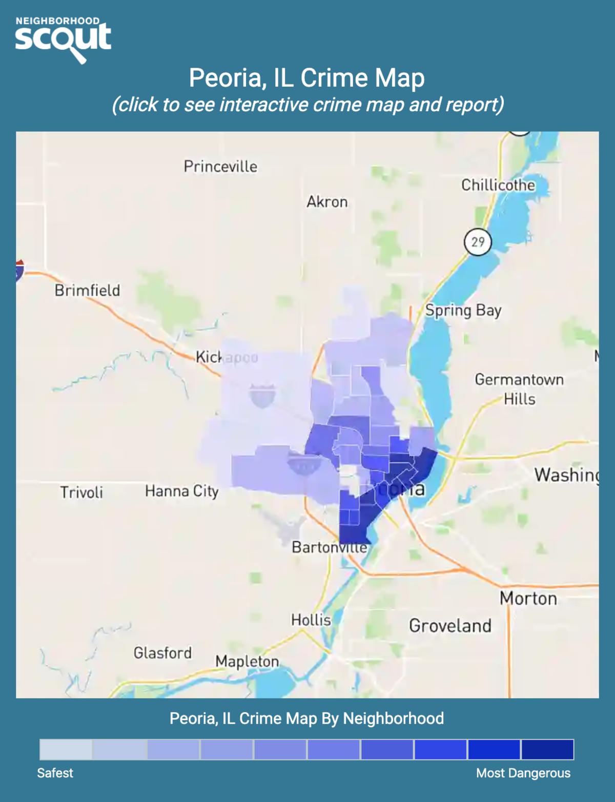 Peoria, Illinois crime map