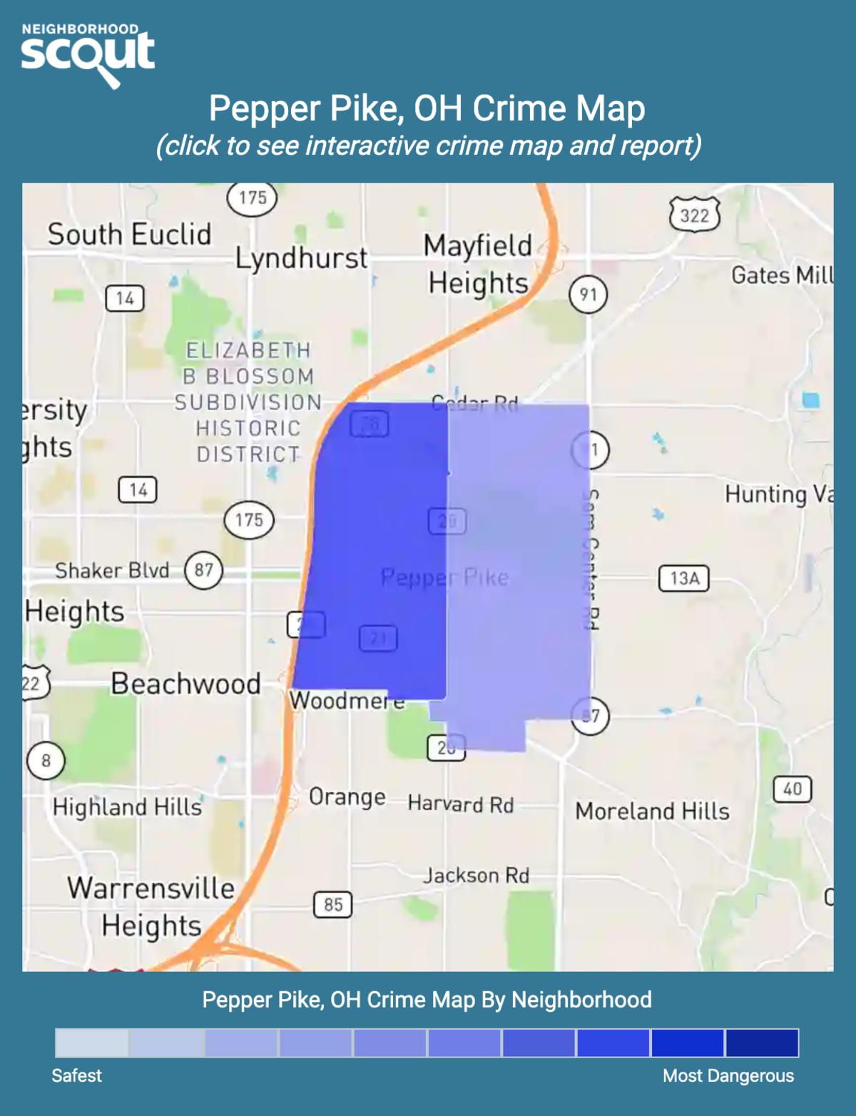 Pepper Pike, Ohio crime map