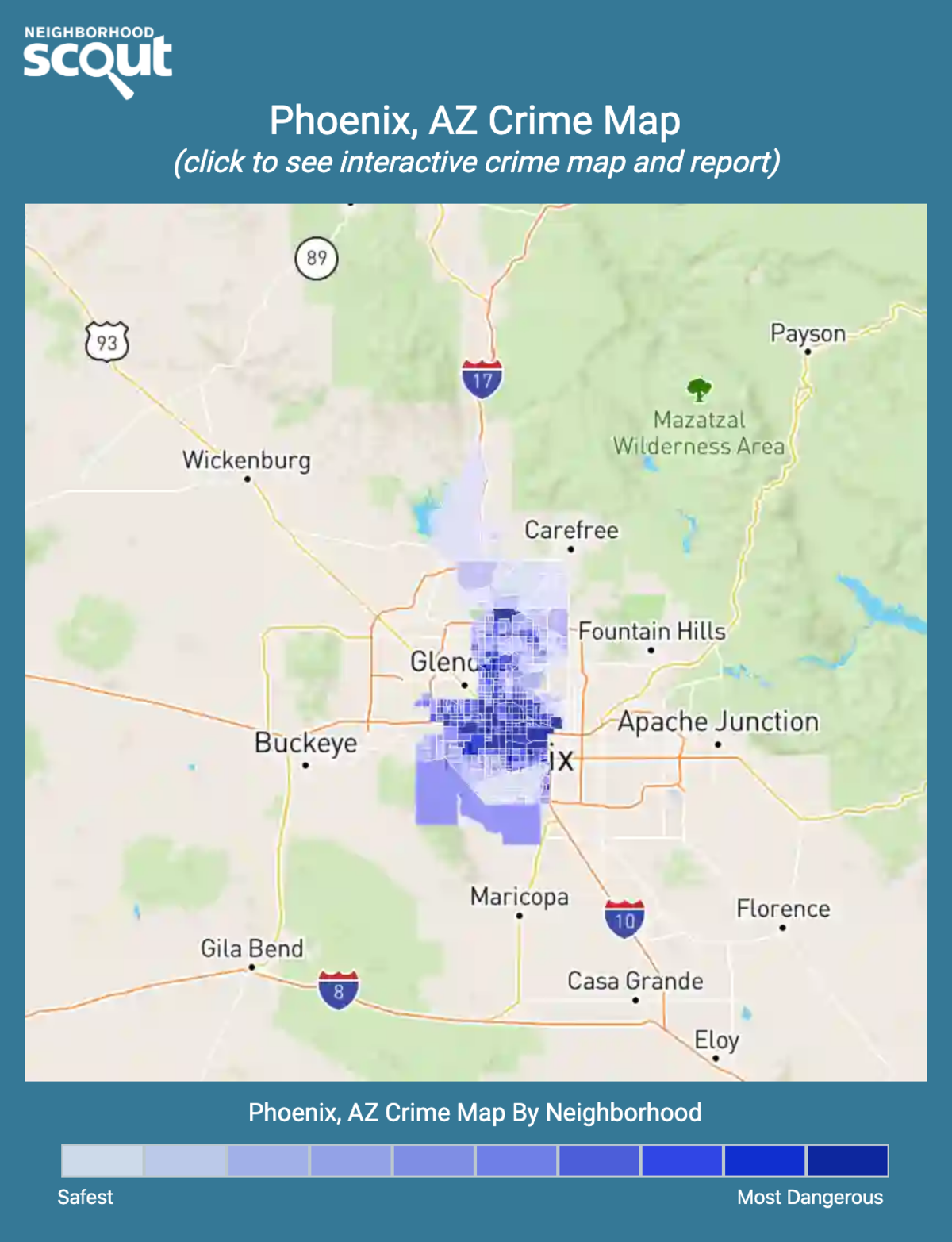 Phoenix, Arizona crime map