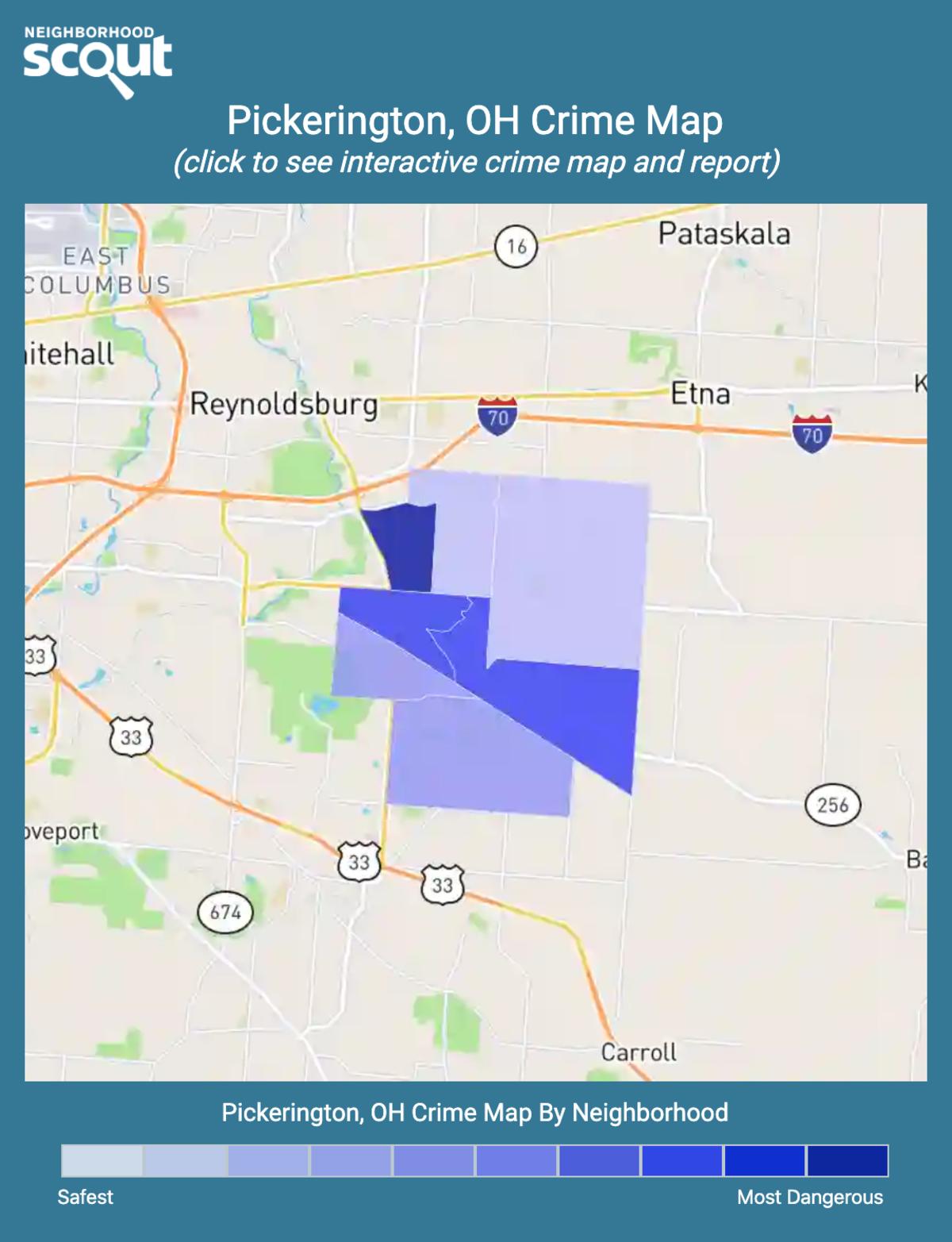 Pickerington, Ohio crime map