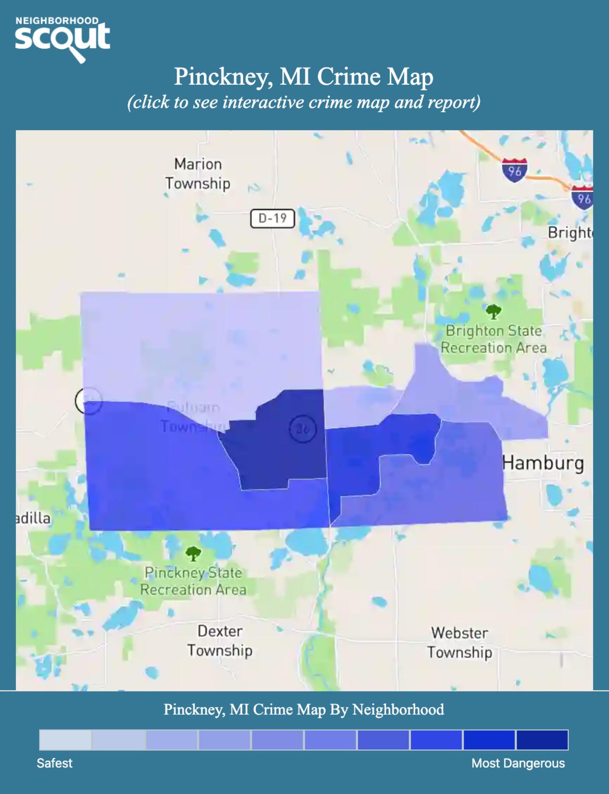 Pinckney, Michigan crime map