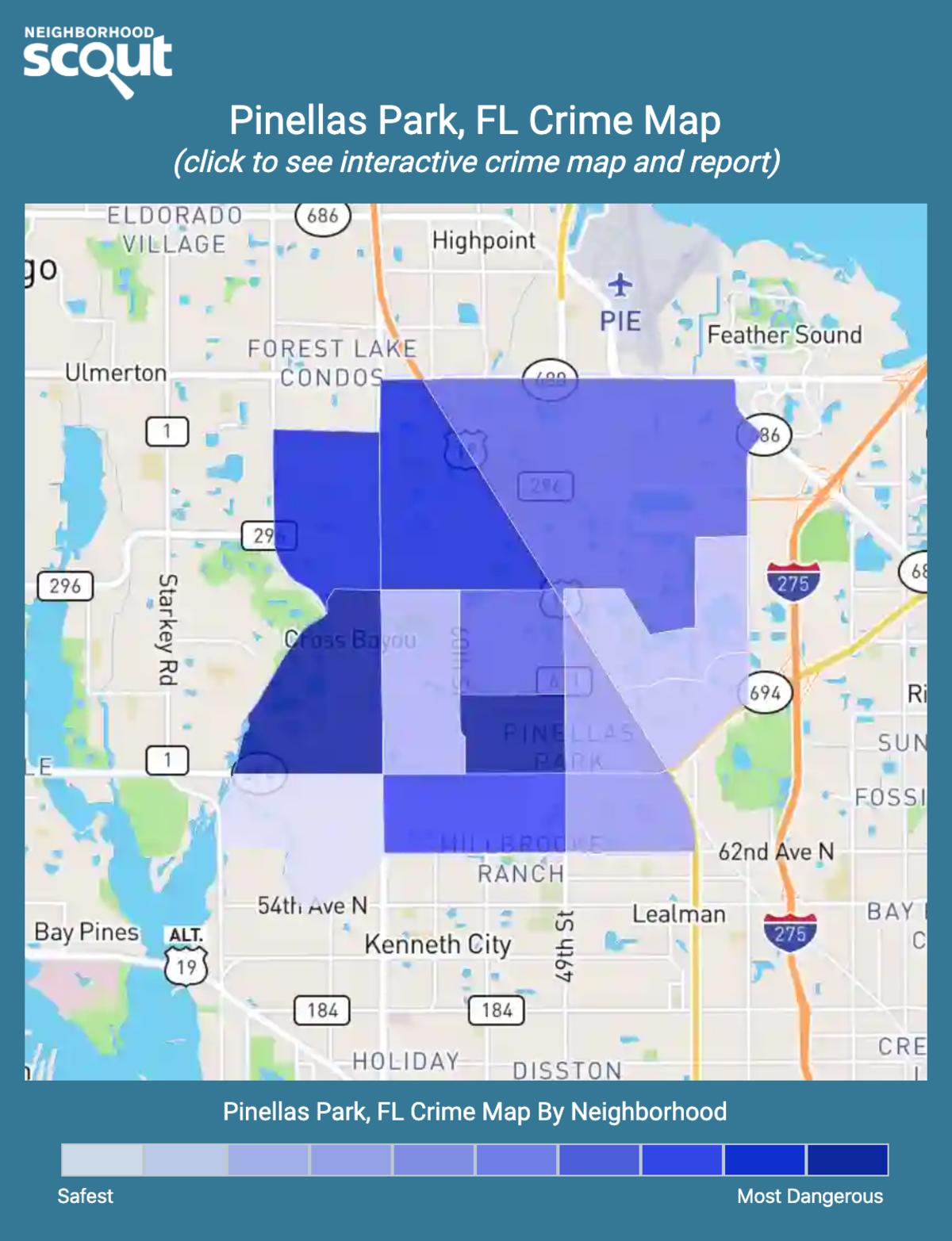 Pinellas Park, Florida crime map