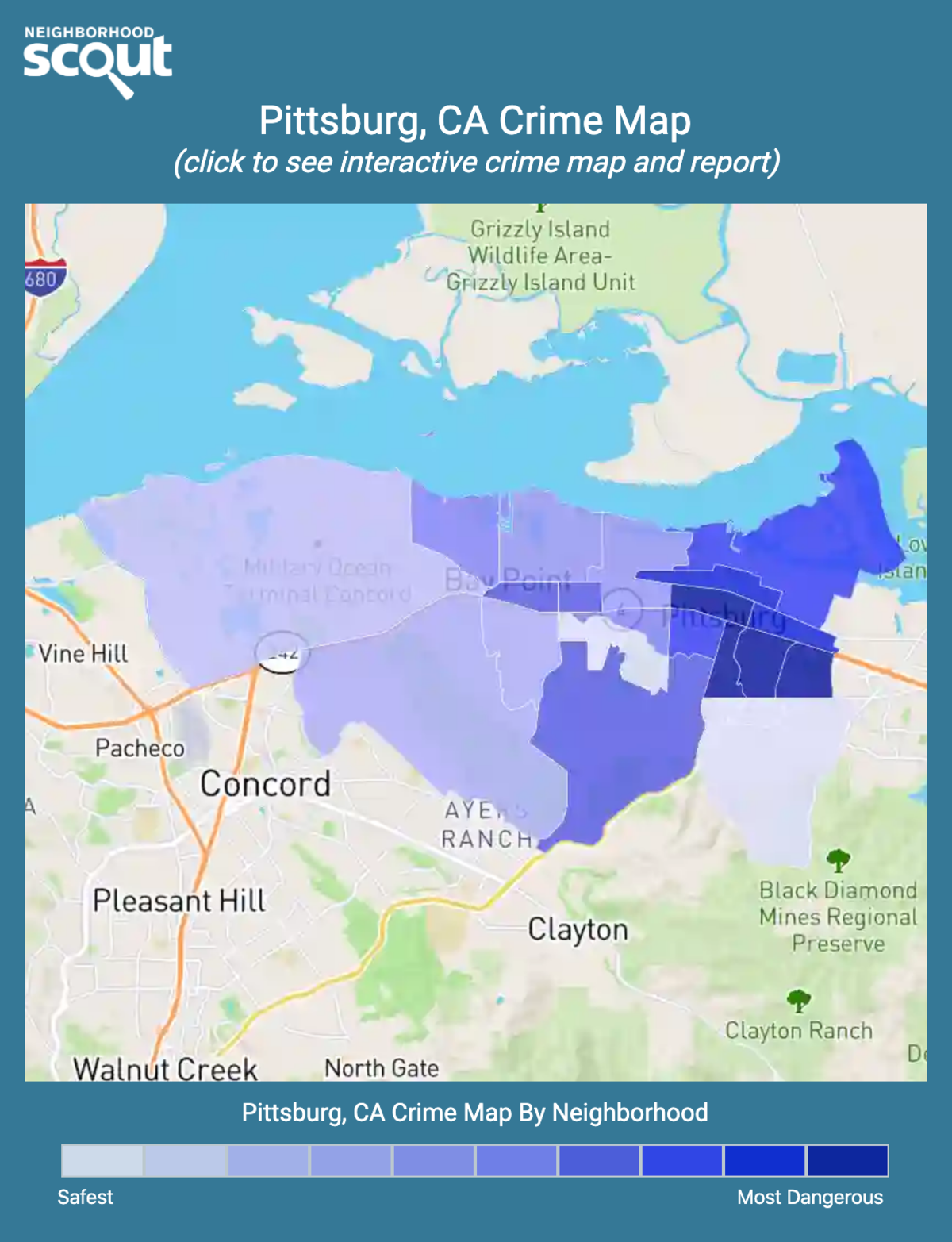 Pittsburg, California crime map