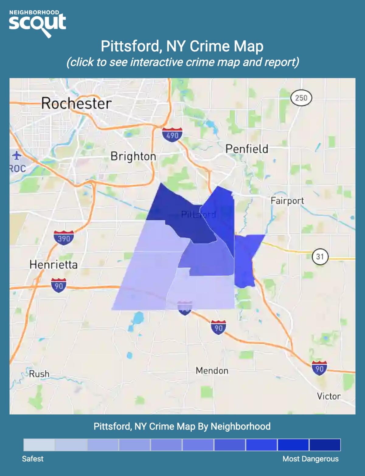 Pittsford, New York crime map