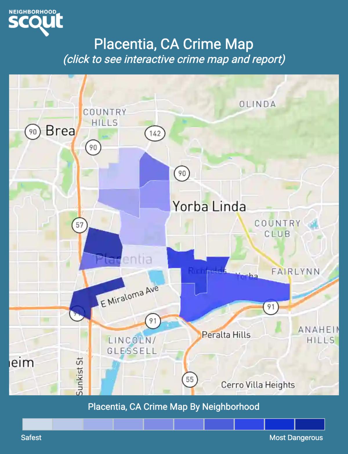 Placentia, California crime map