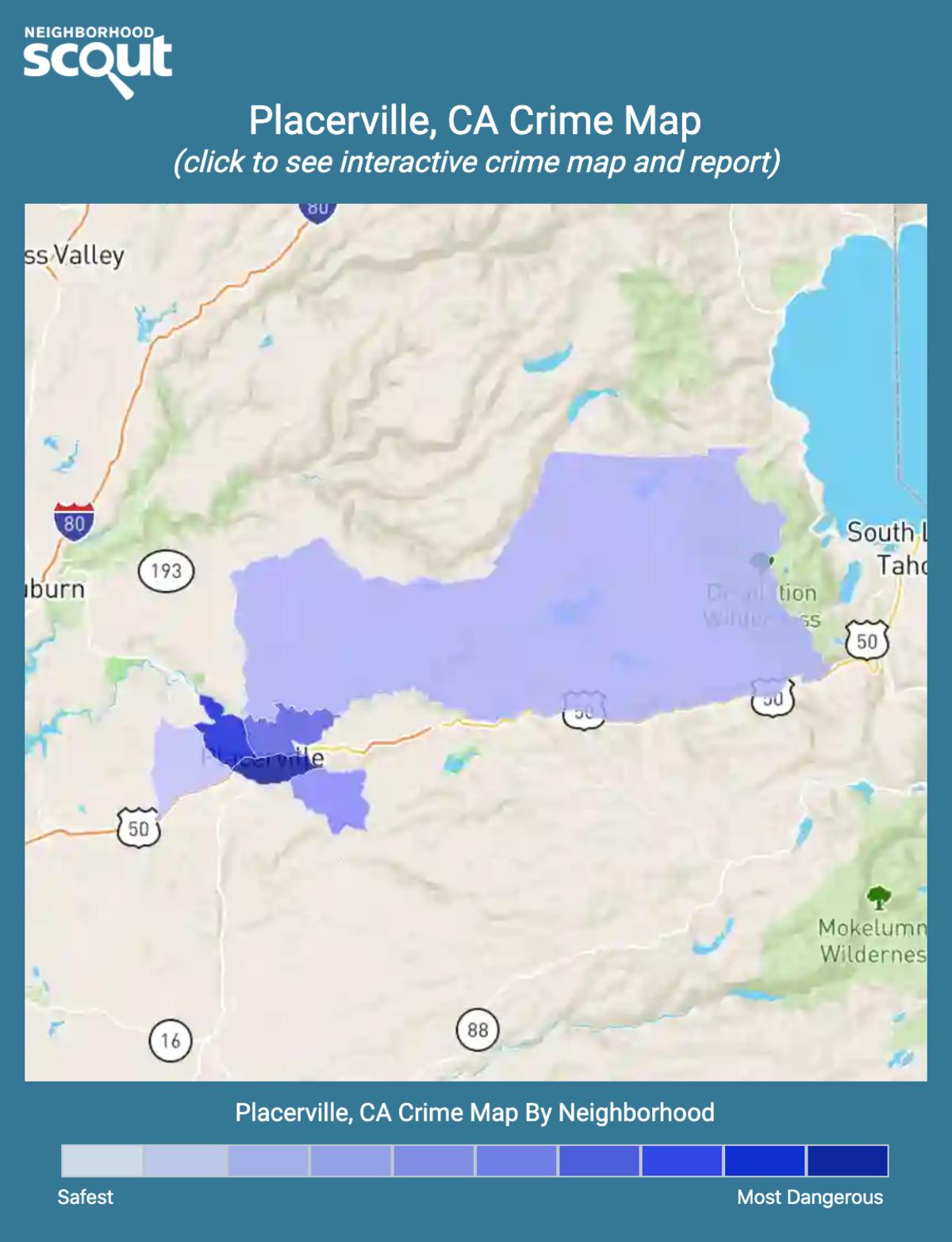 Placerville, California crime map
