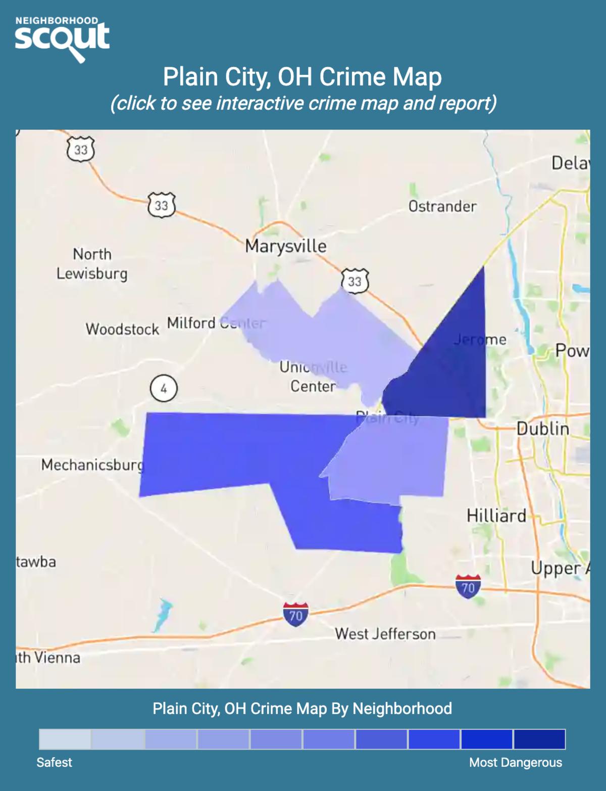 Plain City, Ohio crime map