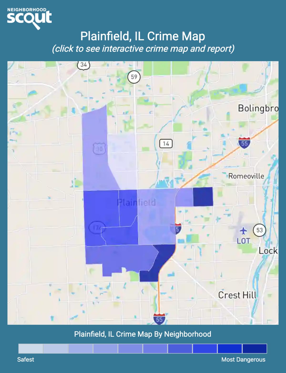 Plainfield, Illinois crime map
