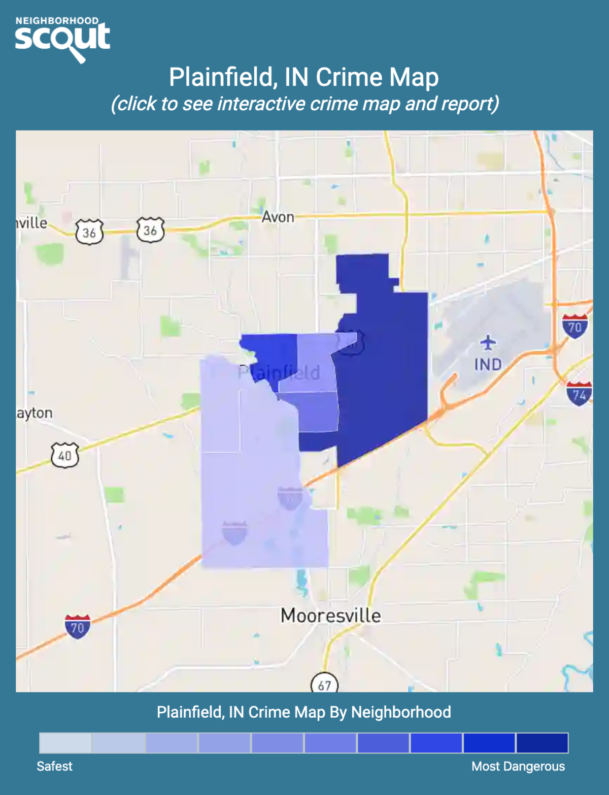 Plainfield, Indiana crime map