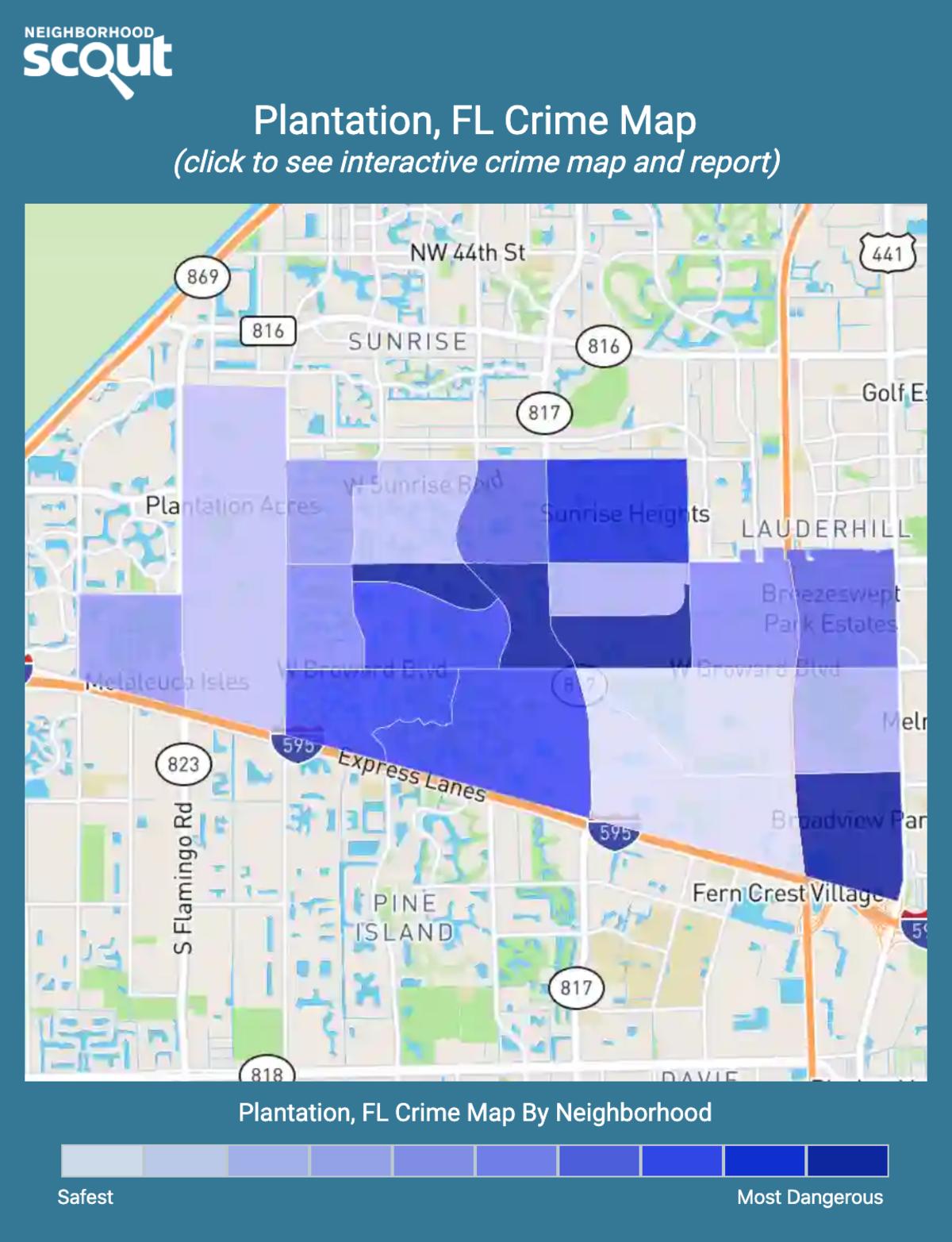 Plantation, Florida crime map