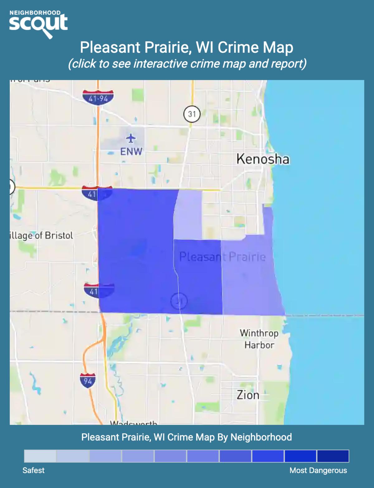 Pleasant Prairie, Wisconsin crime map