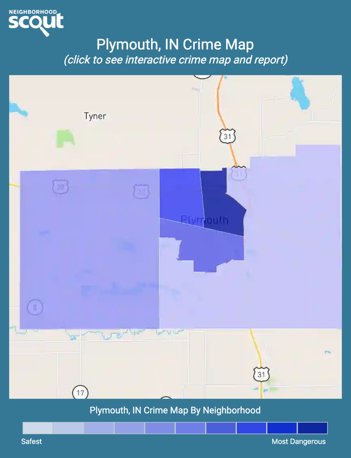 Plymouth, Indiana crime map