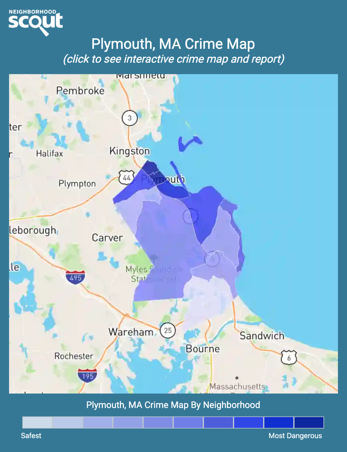 Plymouth, Massachusetts crime map