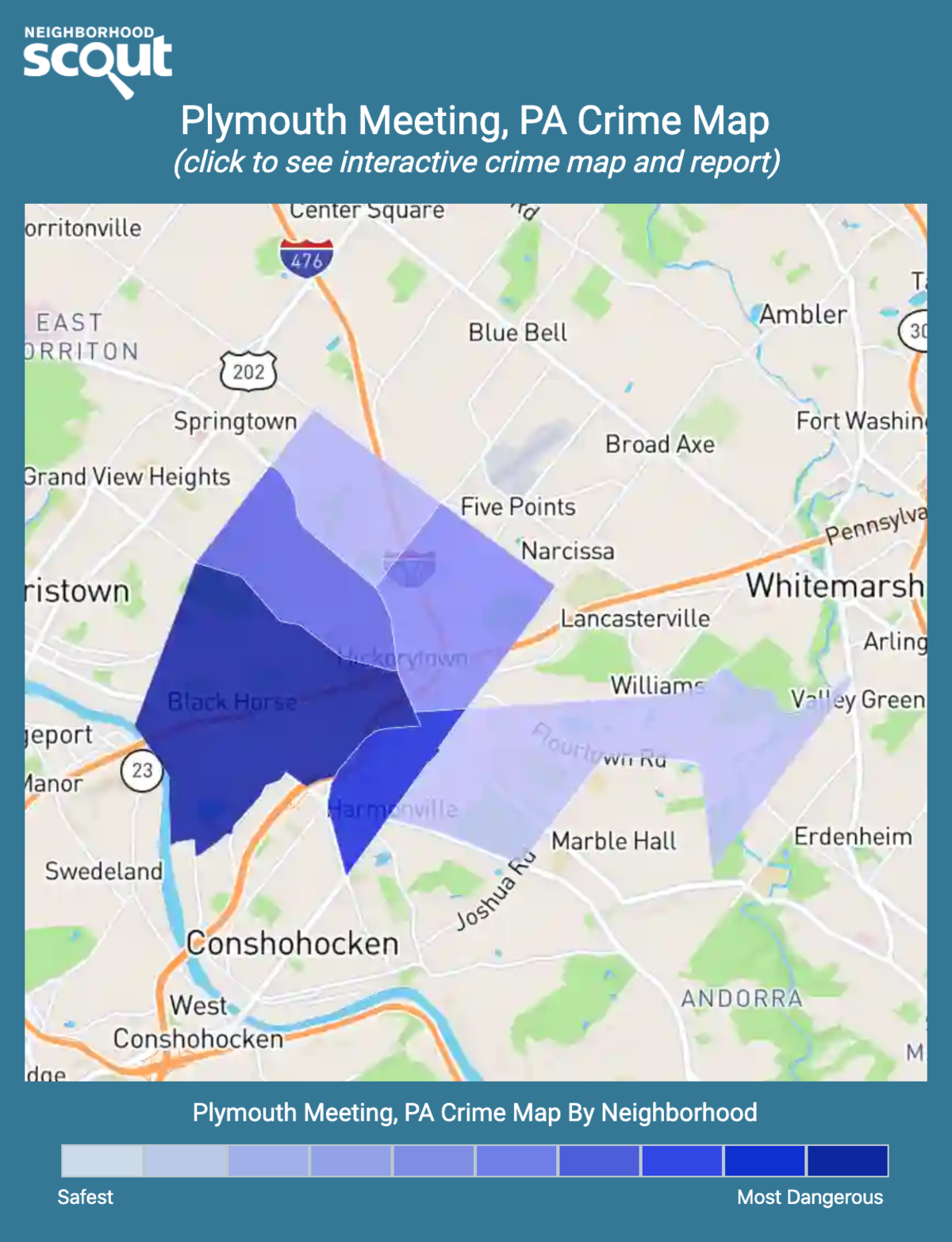 Plymouth Meeting, Pennsylvania crime map