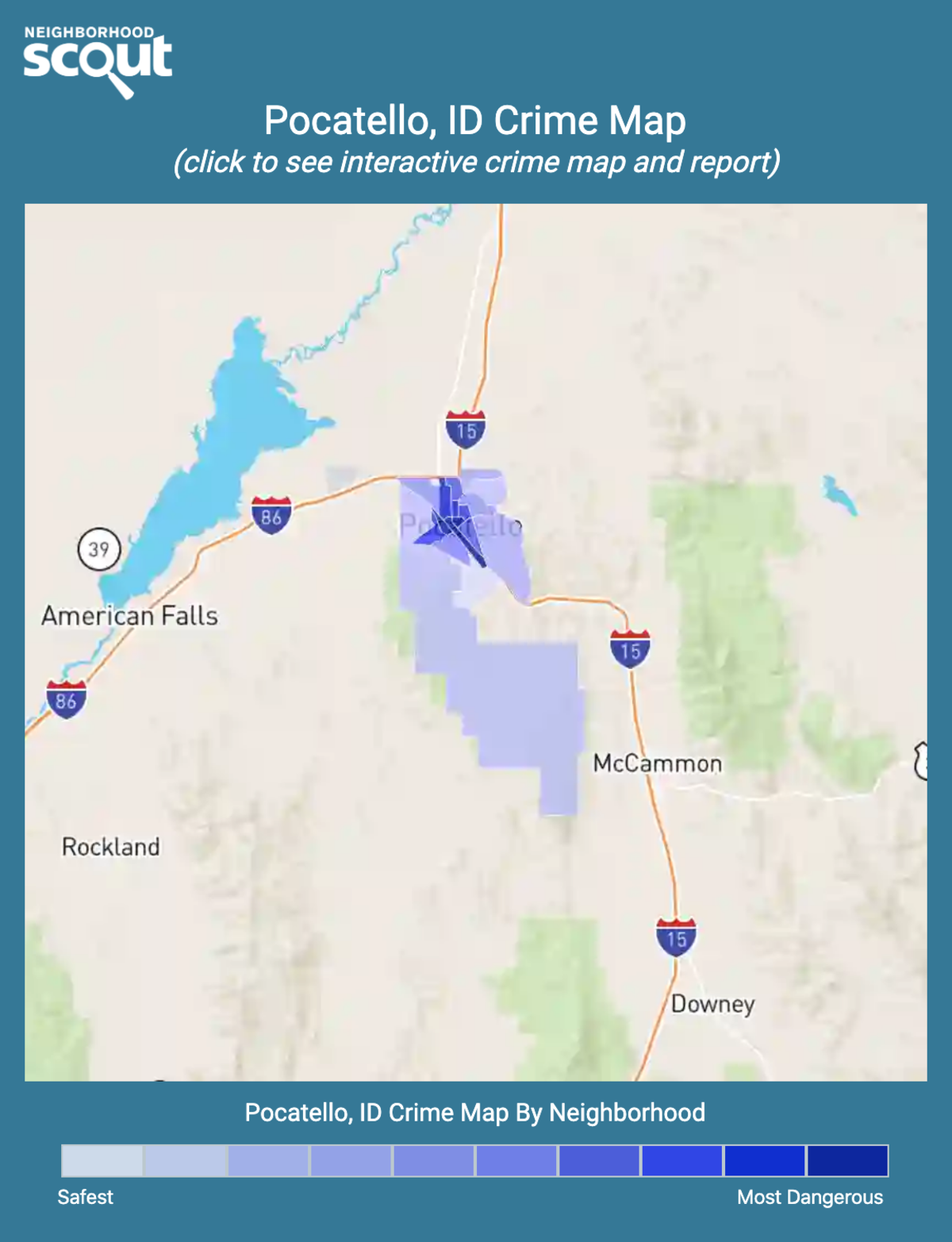 Pocatello, Idaho crime map