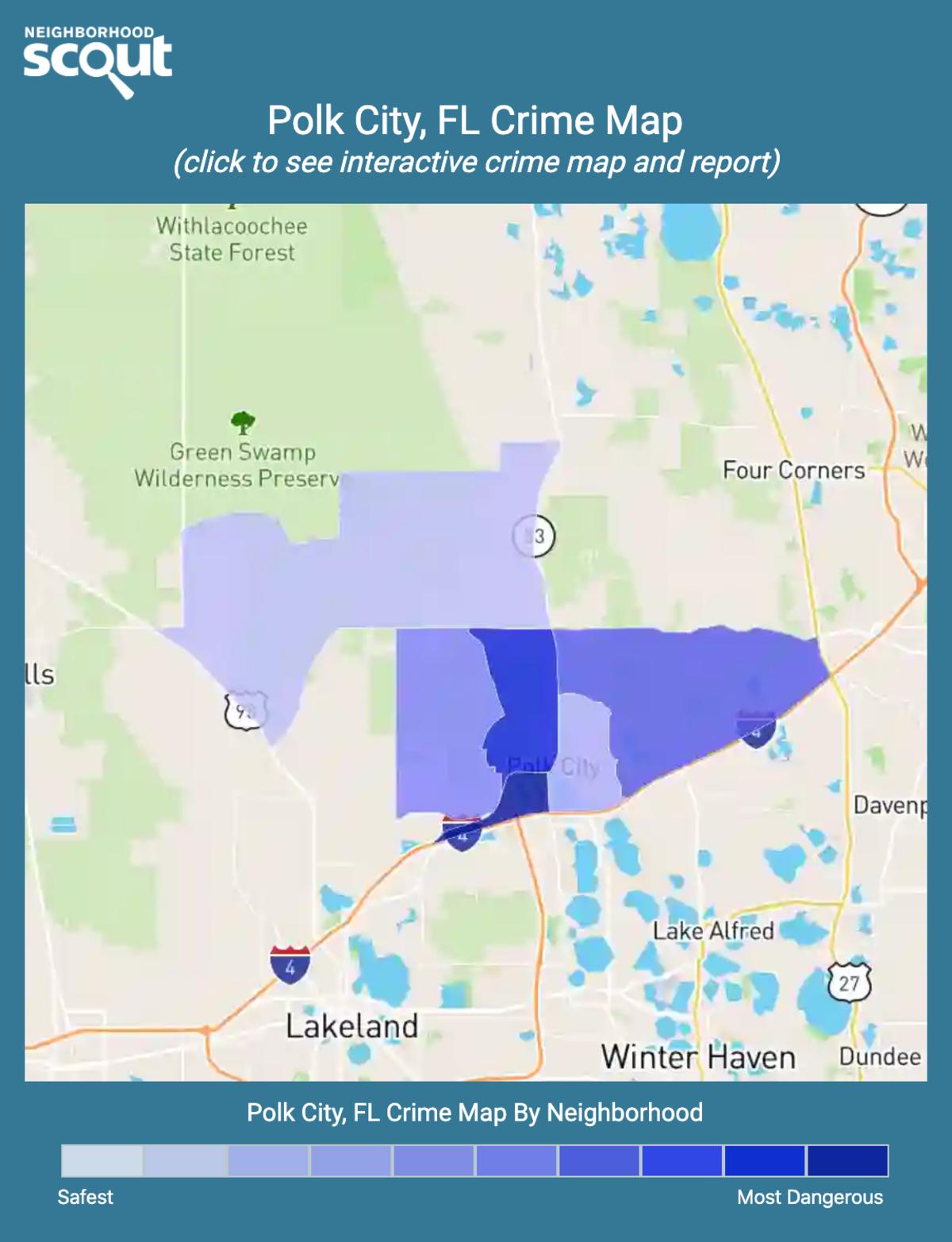 Polk City, Florida crime map