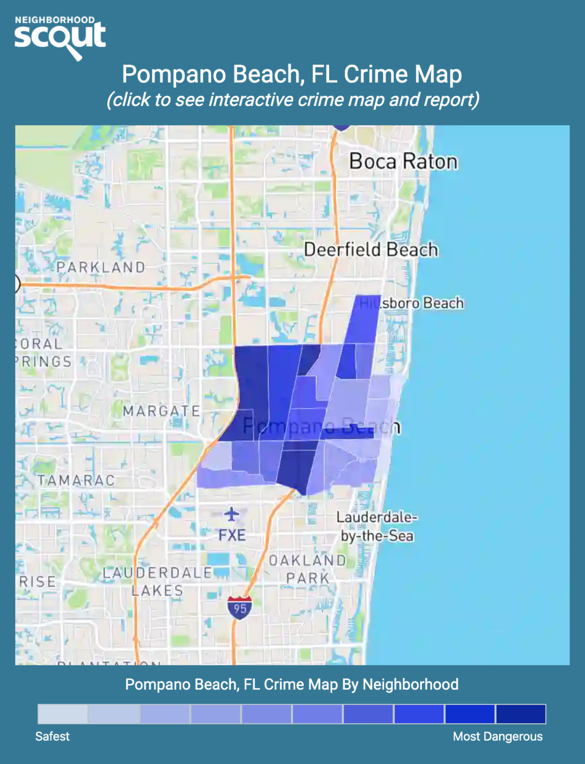 Pompano Beach, Florida crime map