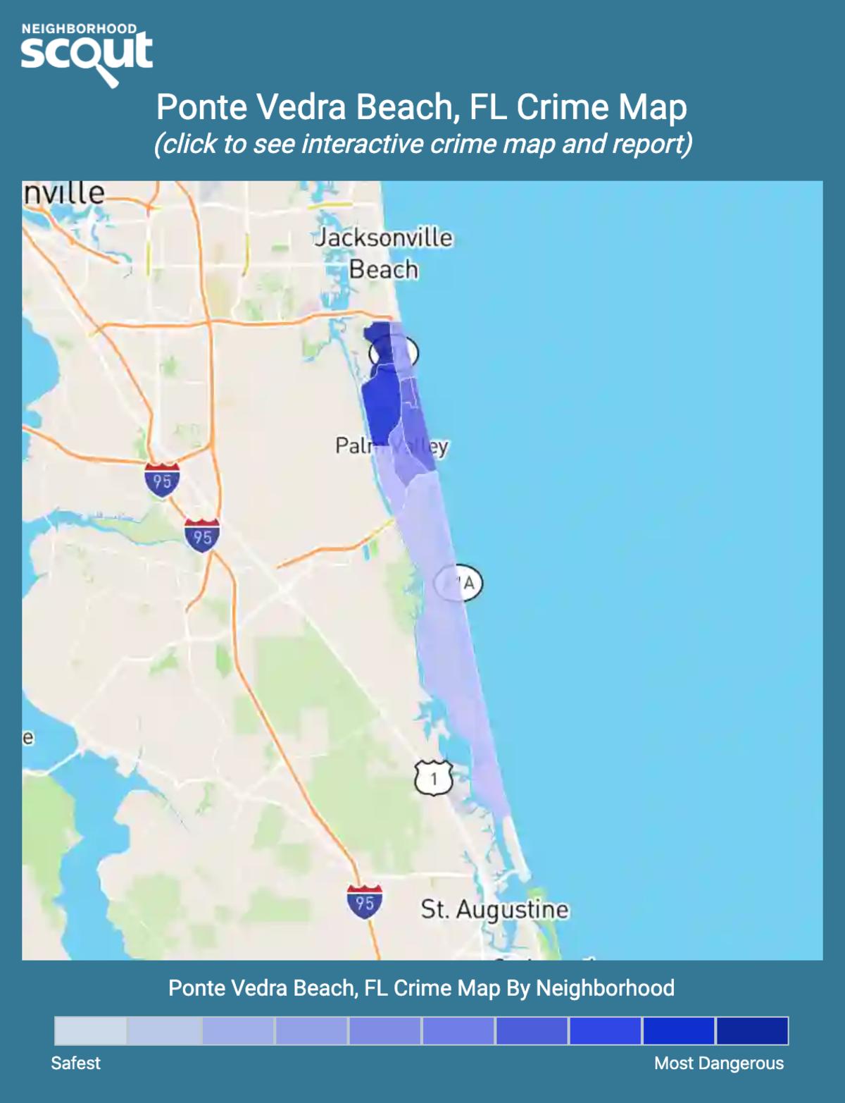 Ponte Vedra Beach, Florida crime map