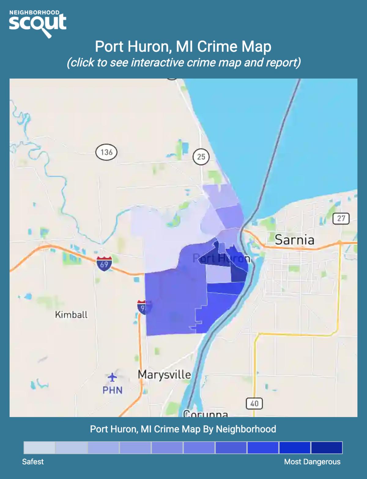 Port Huron, Michigan crime map