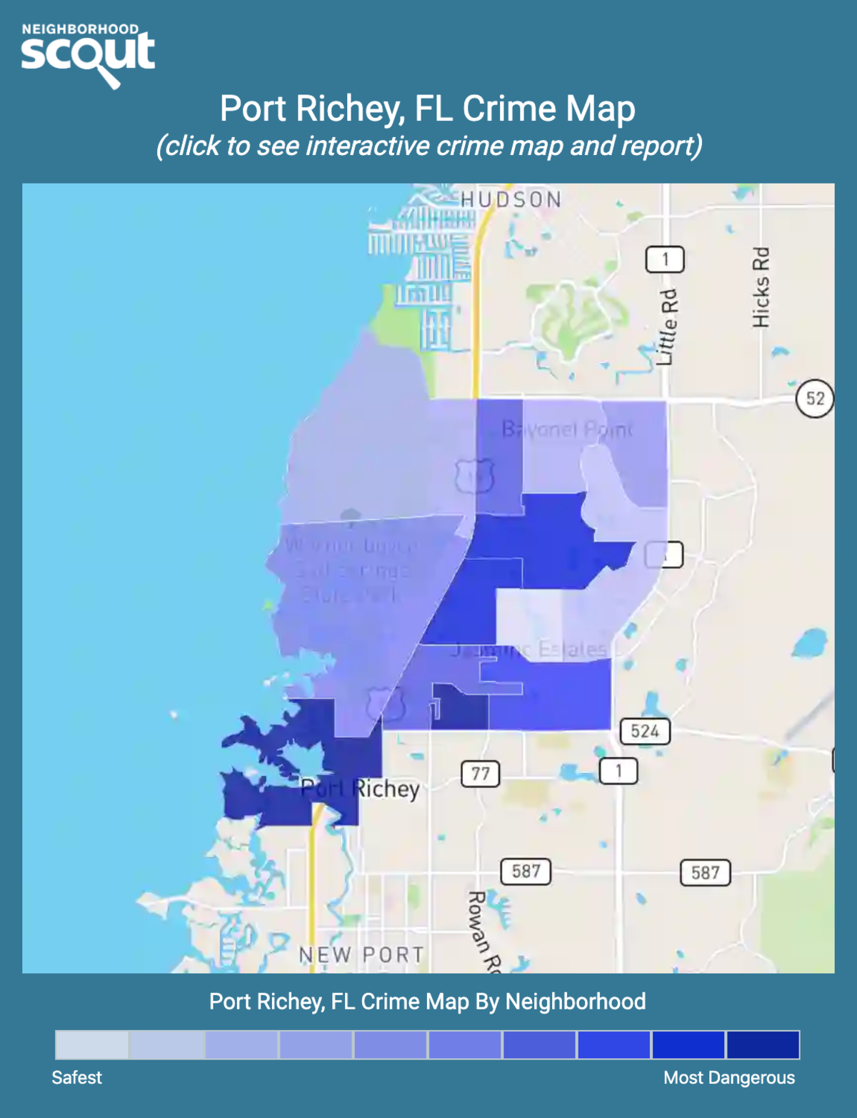 Port Richey, Florida crime map