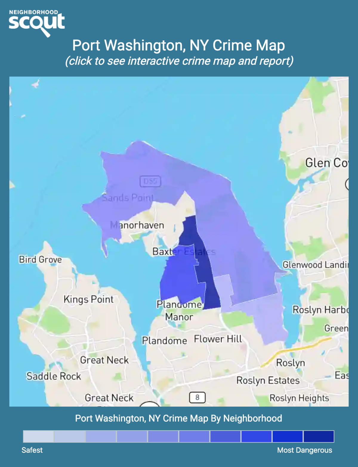Port Washington, New York crime map