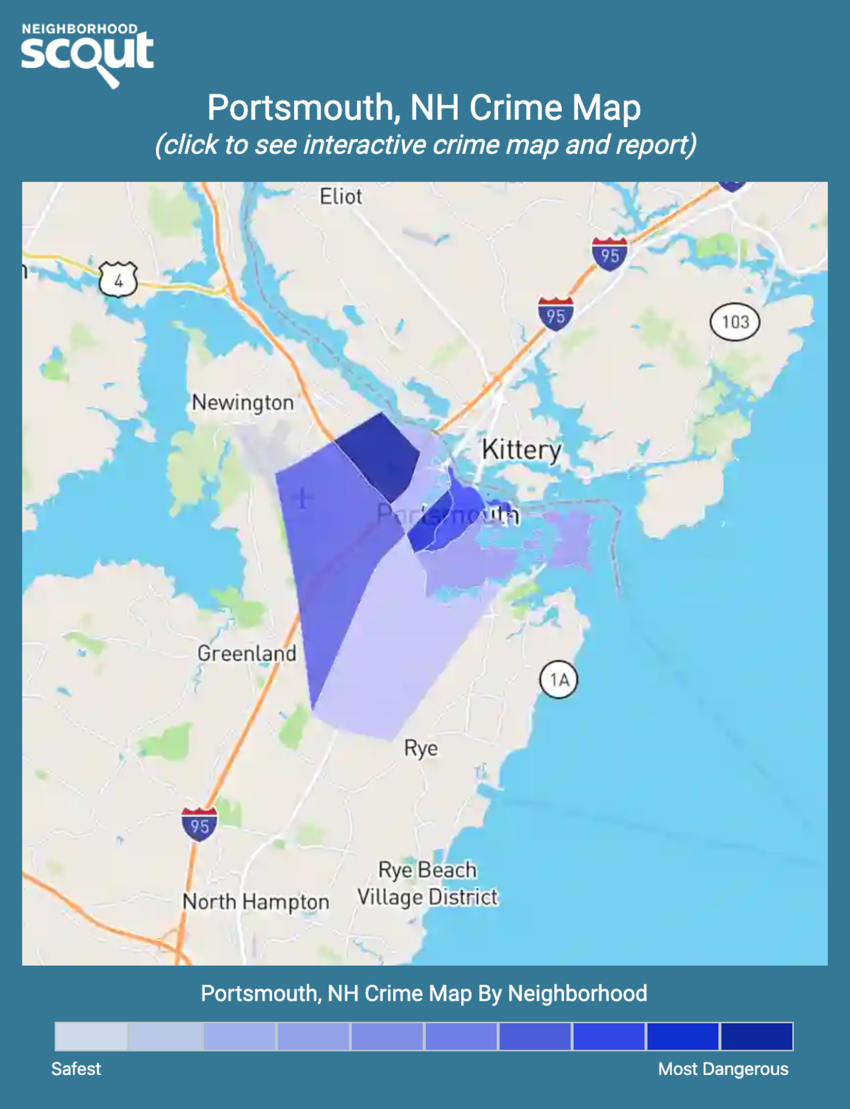 Portsmouth, New Hampshire crime map
