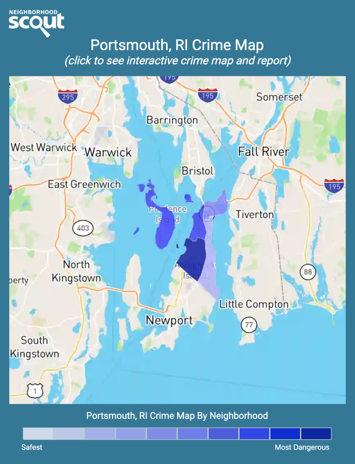 Portsmouth, Rhode Island crime map