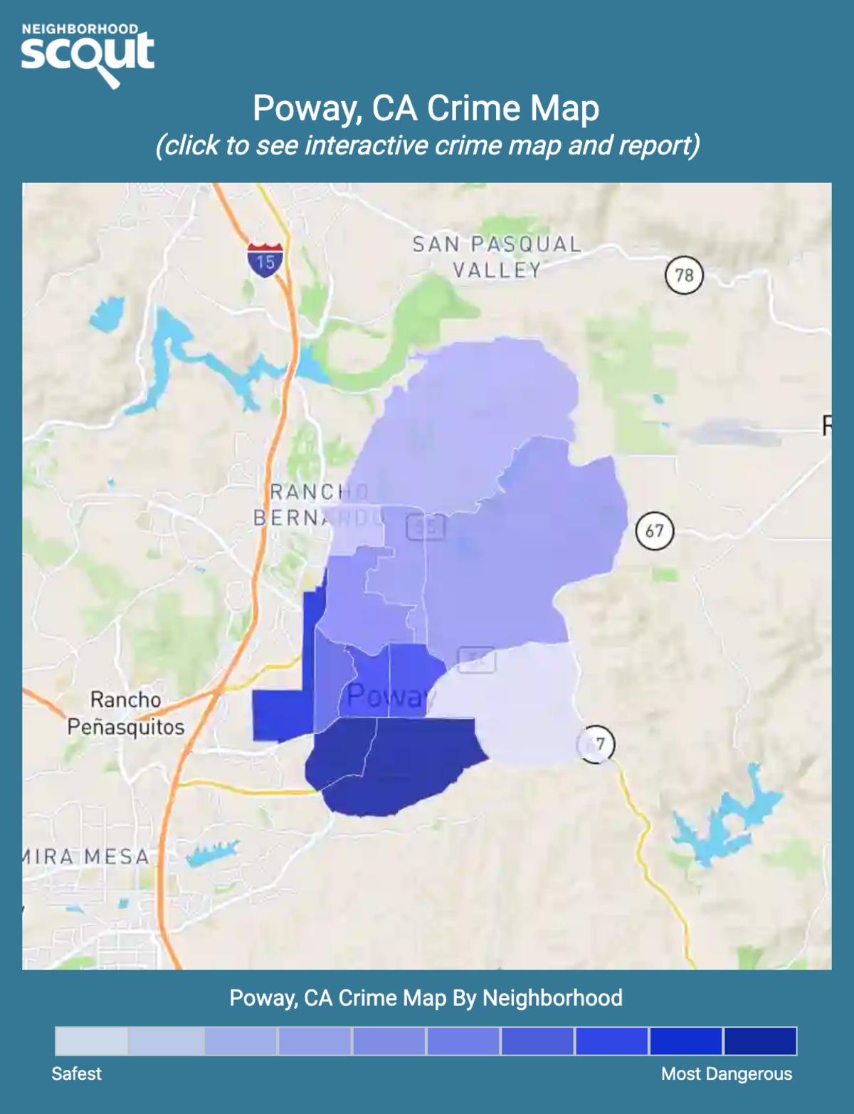 Poway, California crime map