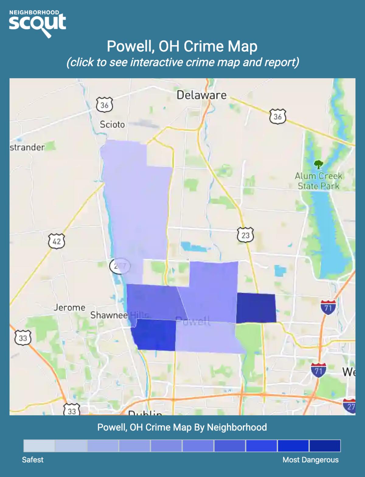 Powell, Ohio crime map