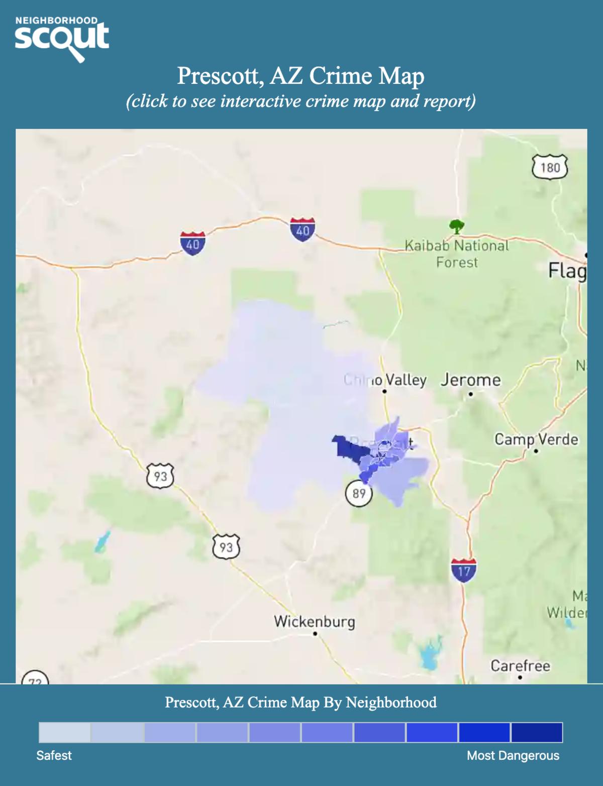 Prescott, Arizona crime map
