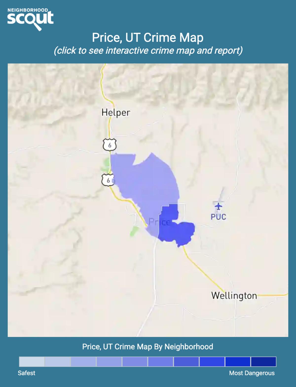 Price, Utah crime map