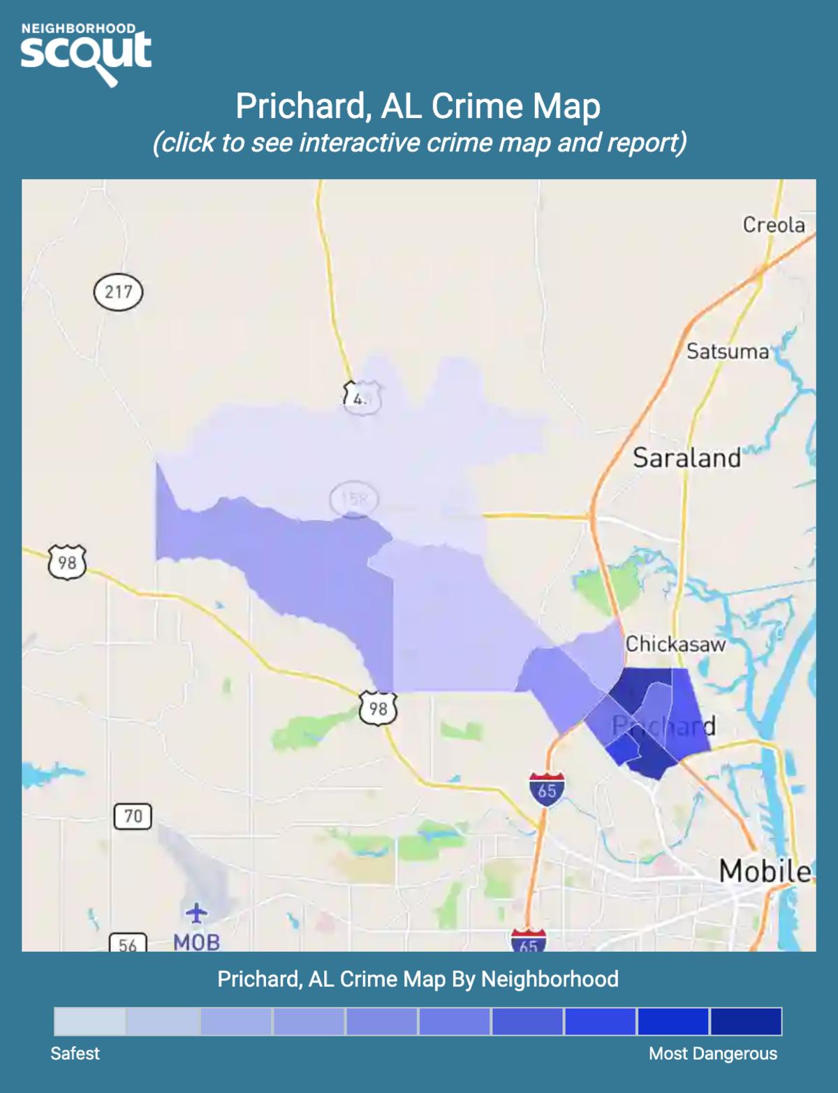 Prichard Alabama: Prichard, AL Crime Rates And Statistics
