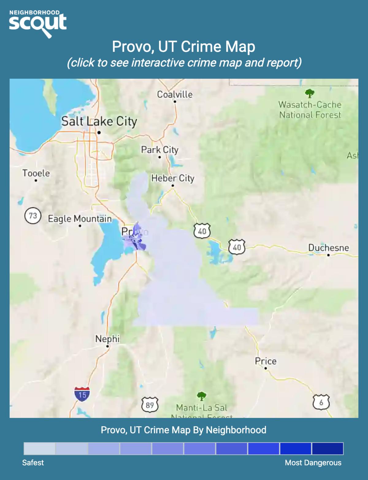 Provo, Utah crime map