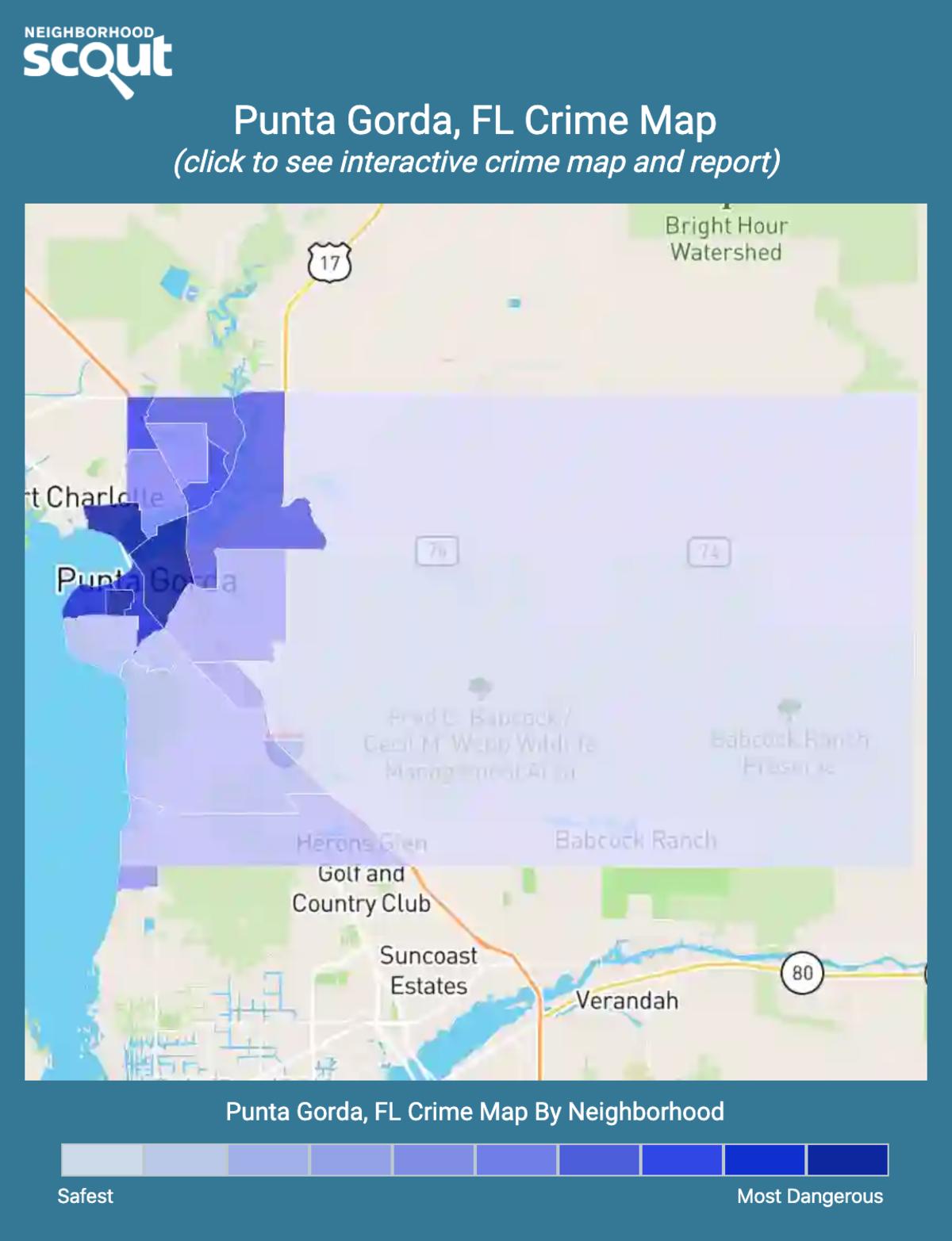 Punta Gorda, Florida crime map