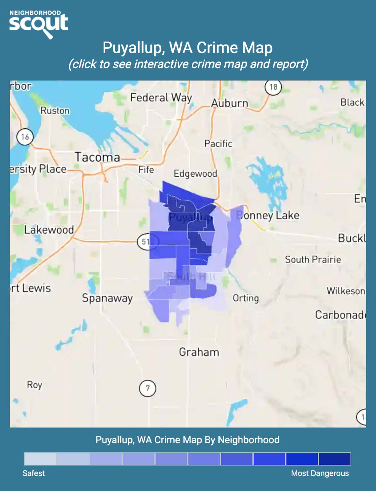 Puyallup, Washington crime map
