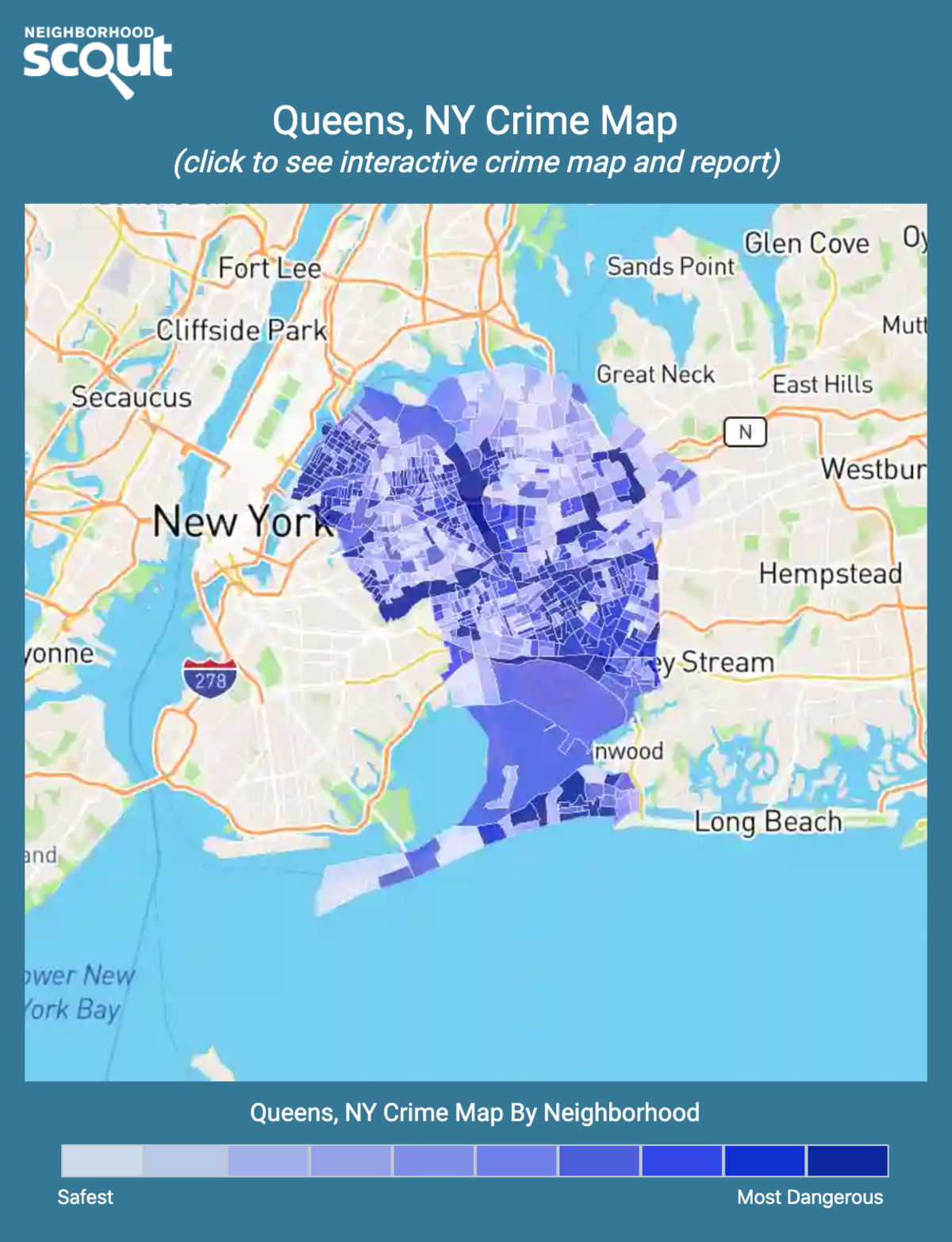 Queens, New York crime map