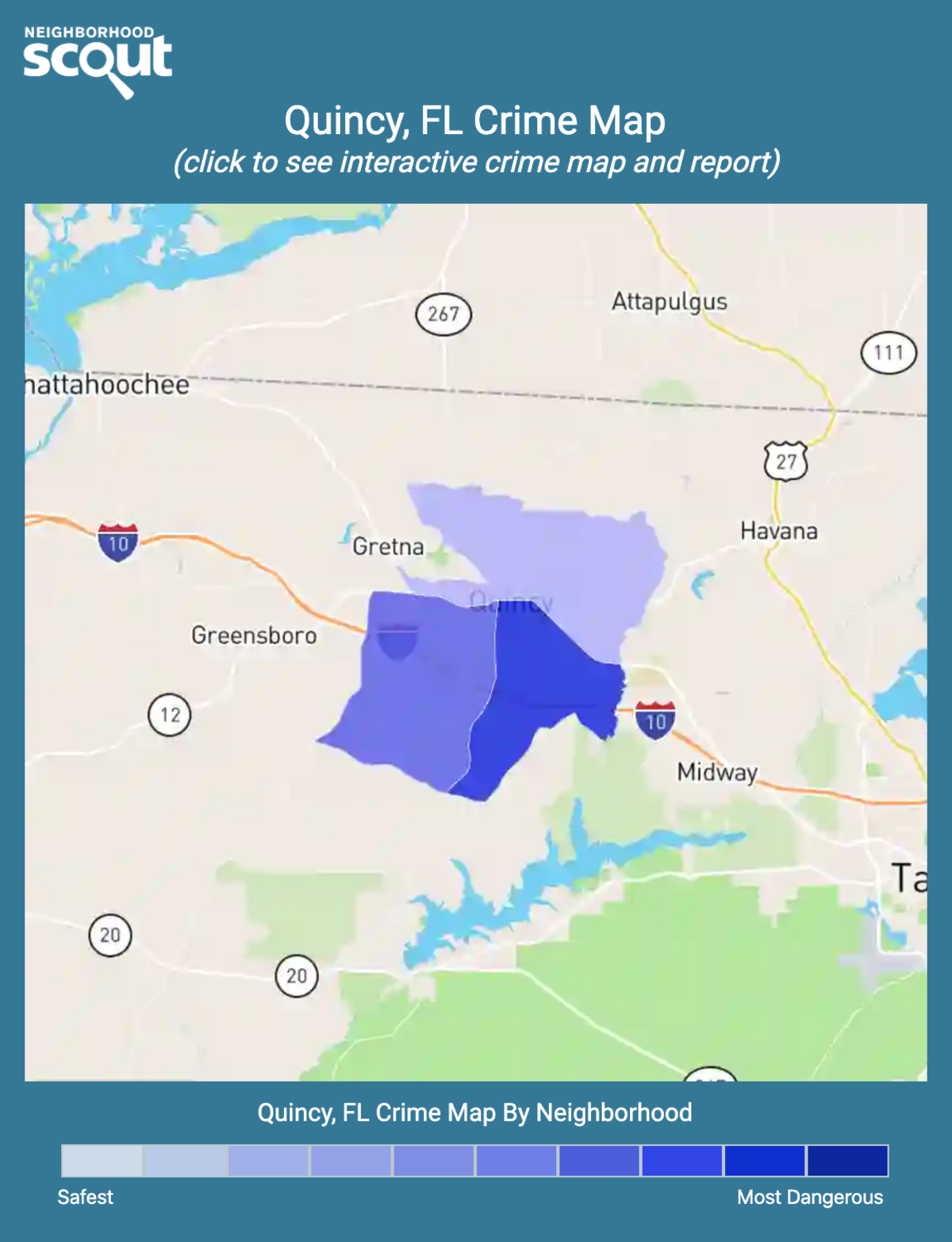 Quincy, Florida crime map